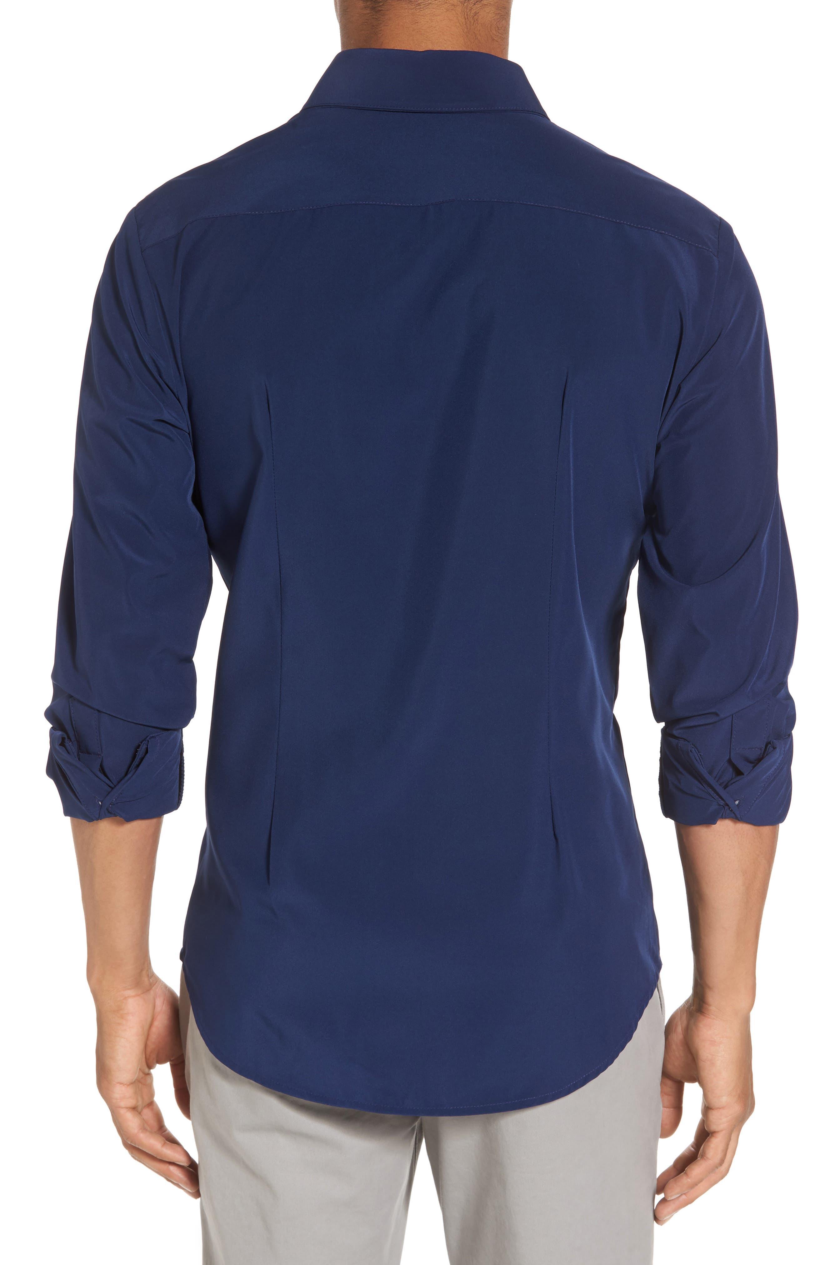 Dillon Slim Fit Performance Sport Shirt,                             Alternate thumbnail 2, color,