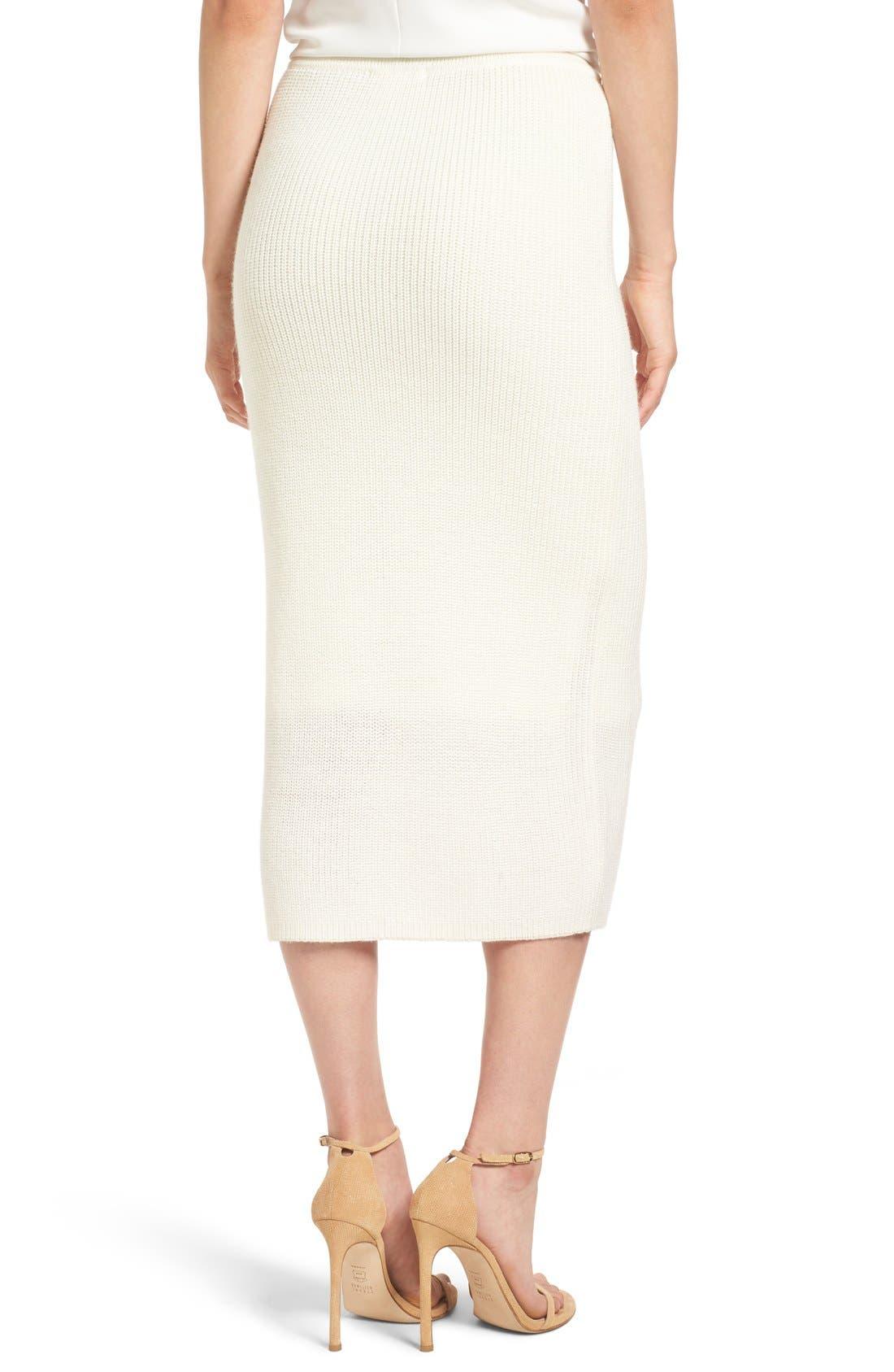 by Lauren Conrad 'Copenhagen' Knit Tube Skirt,                             Alternate thumbnail 5, color,                             100