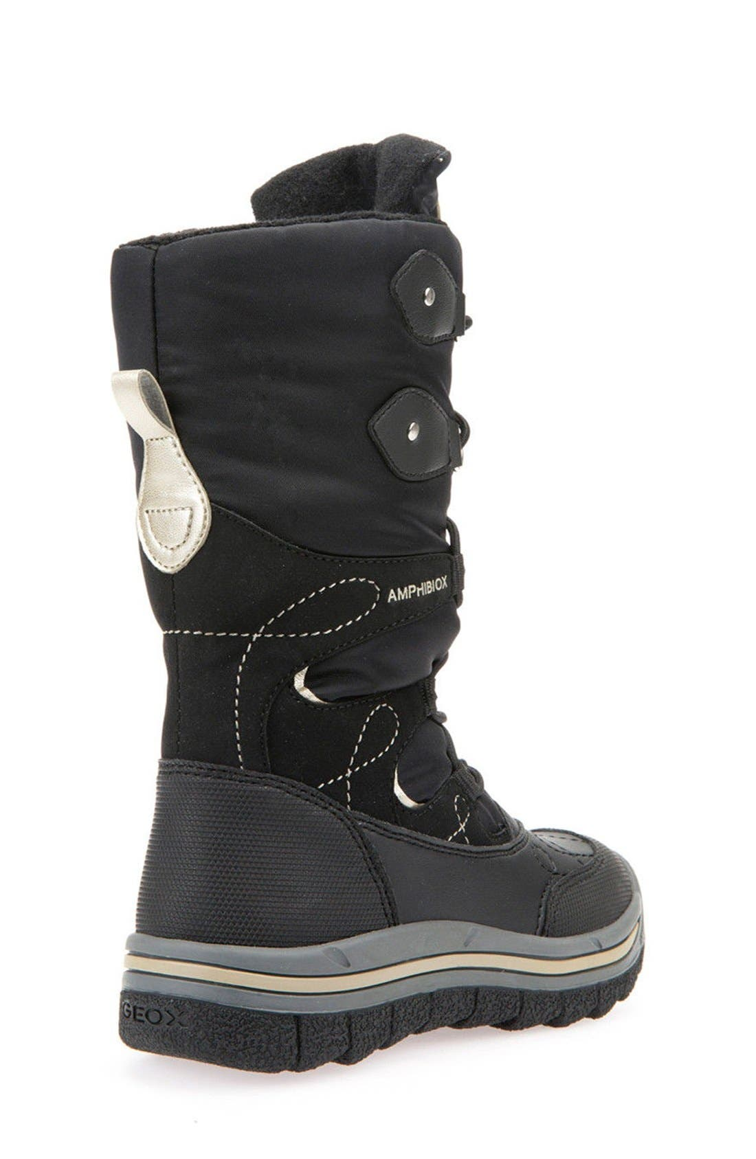 'Overland ABX' Waterproof Boot,                             Alternate thumbnail 6, color,                             BLACK/ GOLD