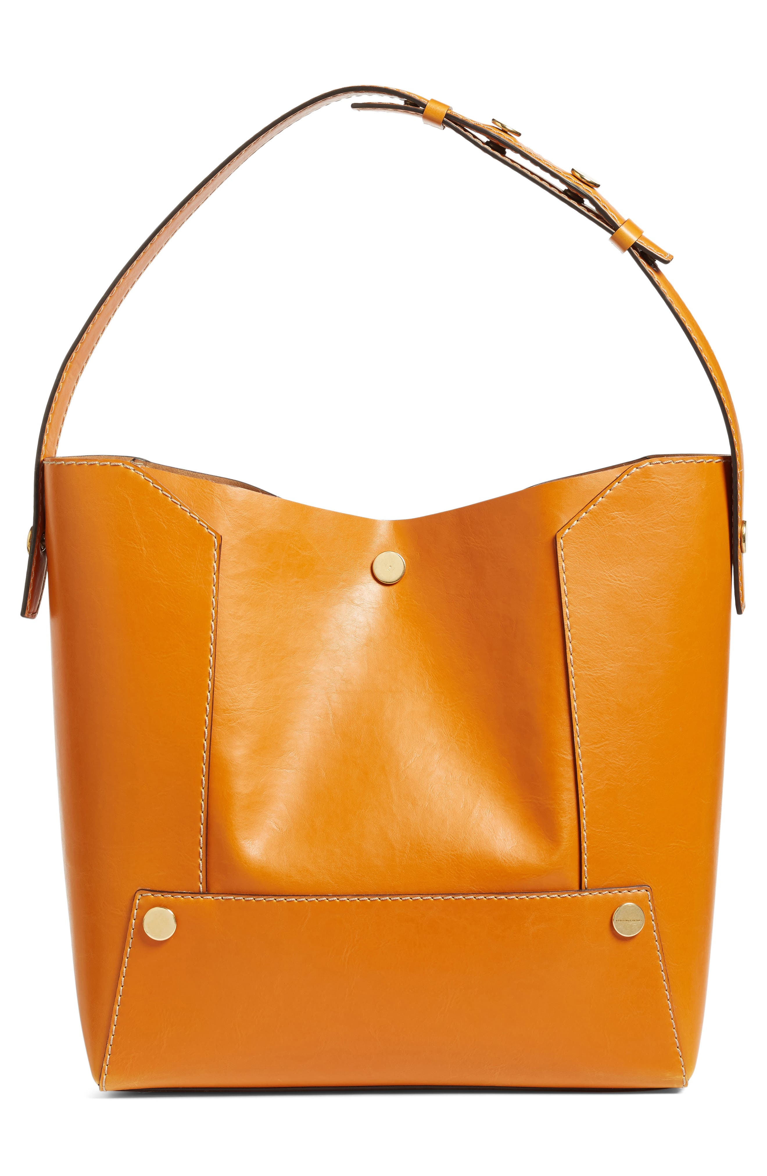 Popper Faux Leather Bucket Bag,                             Alternate thumbnail 2, color,                             217