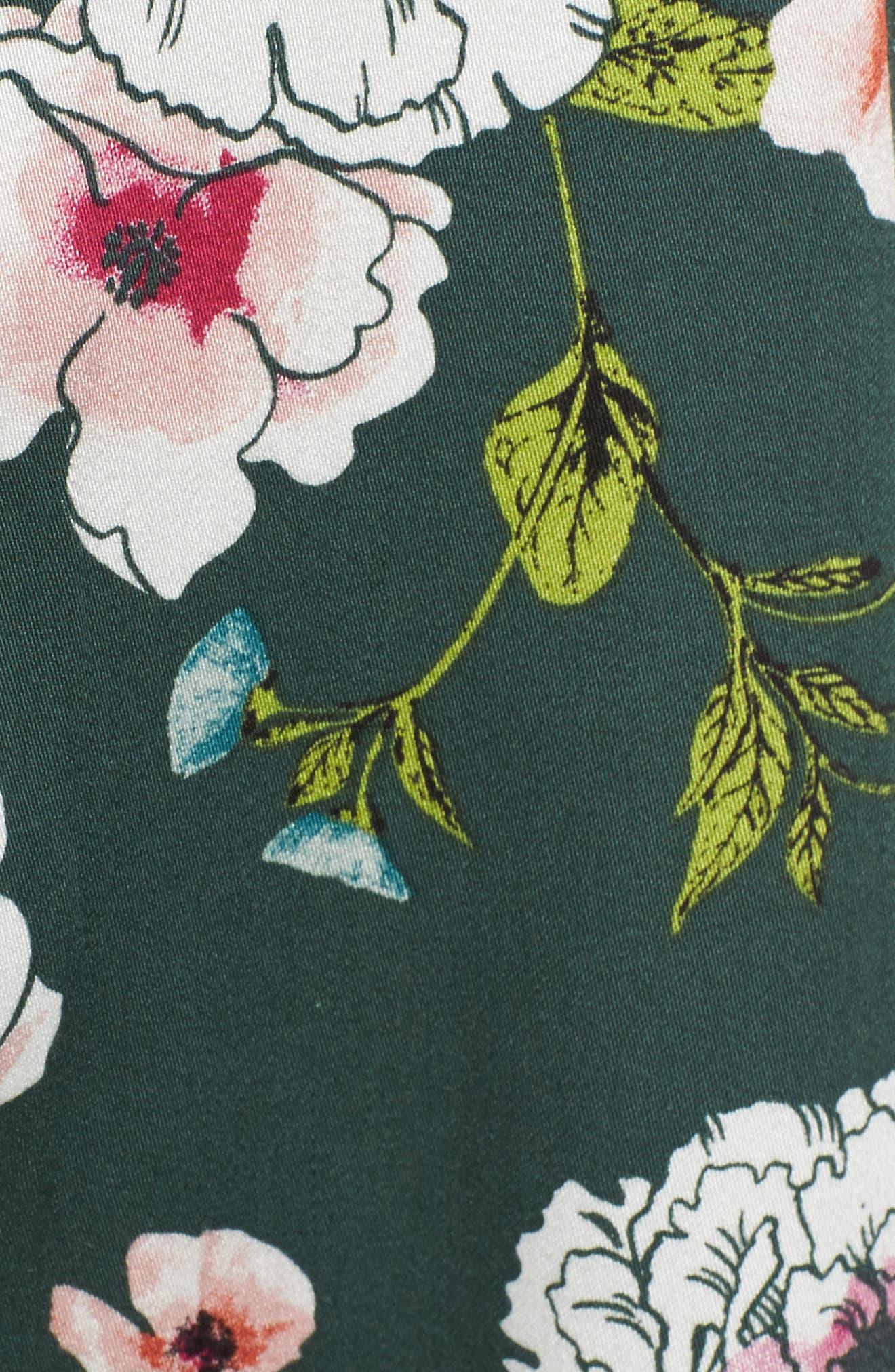 Burning Desire Print Swing Dress,                             Alternate thumbnail 5, color,                             300