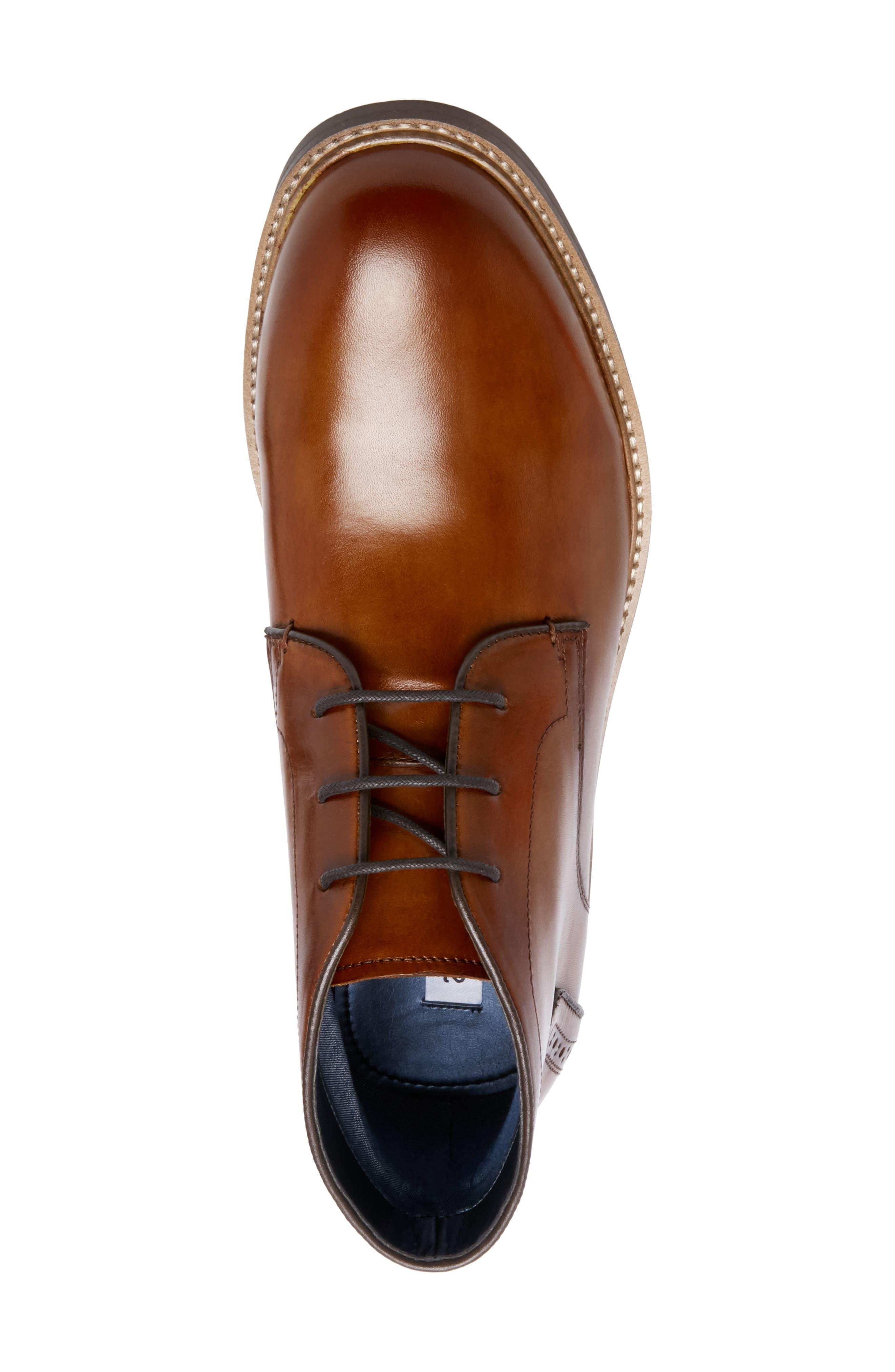 Backster Plain Toe Chukka Boot,                             Alternate thumbnail 5, color,                             COGNAC LEATHER