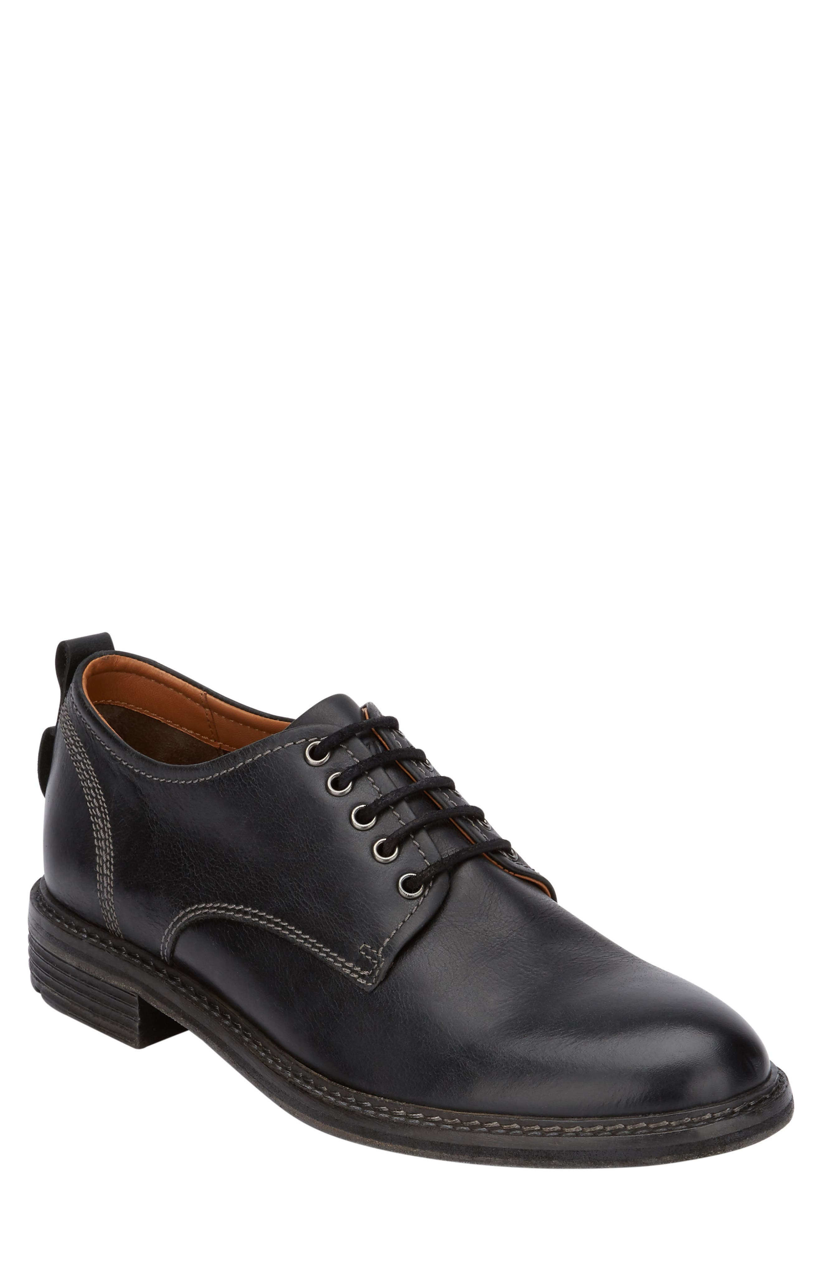 G.H. Bass Hanson Plain Toe Derby,                         Main,                         color, 001