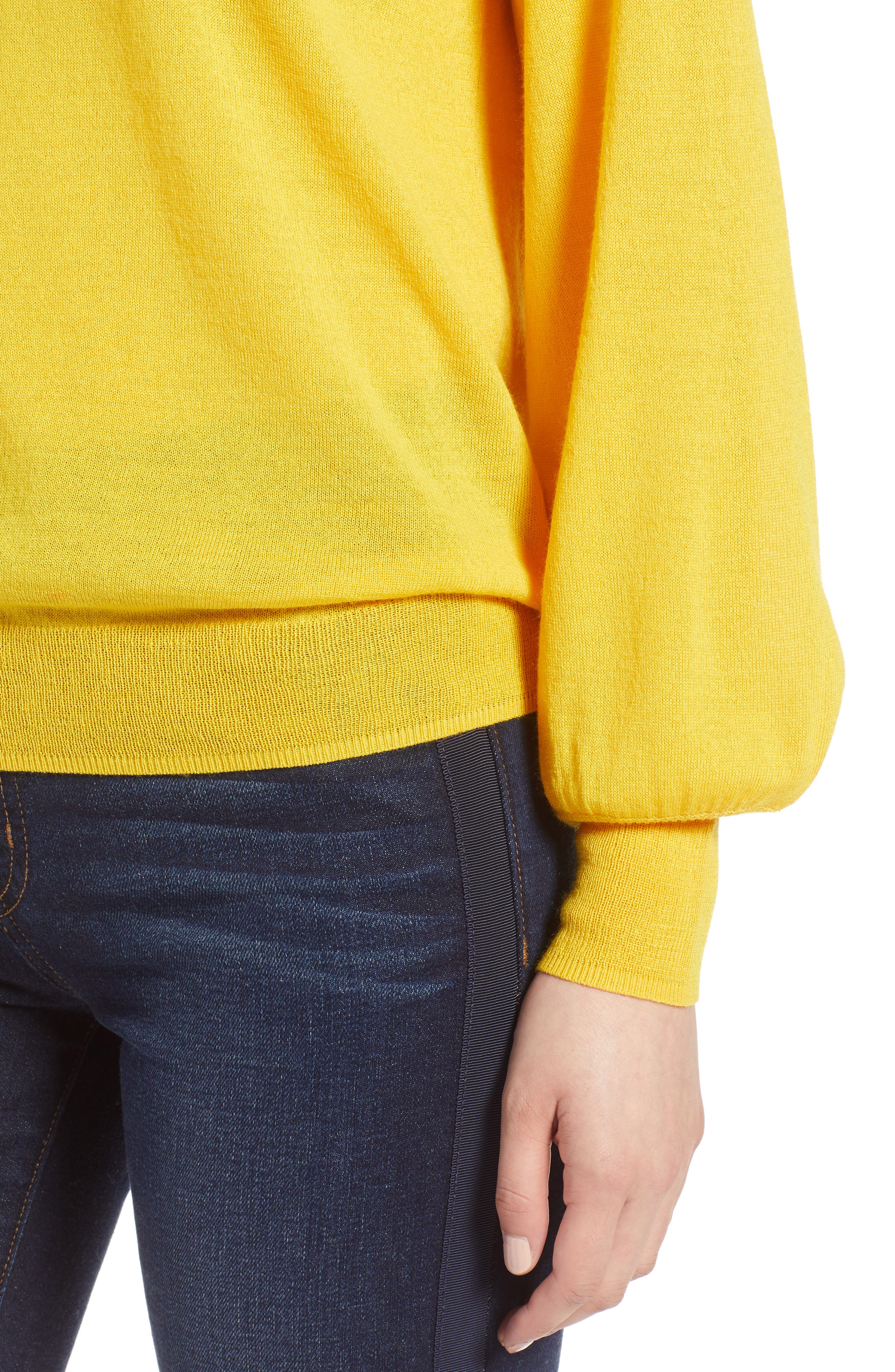 Puff Sleeve Sweater,                             Alternate thumbnail 40, color,