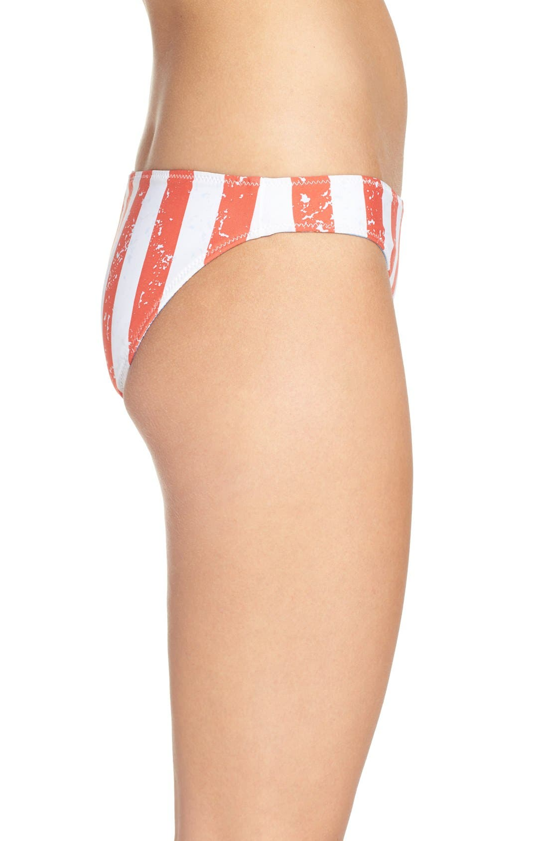 'American Flag - Red, White & You' Reversible Bikini Bottoms,                             Alternate thumbnail 6, color,                             400