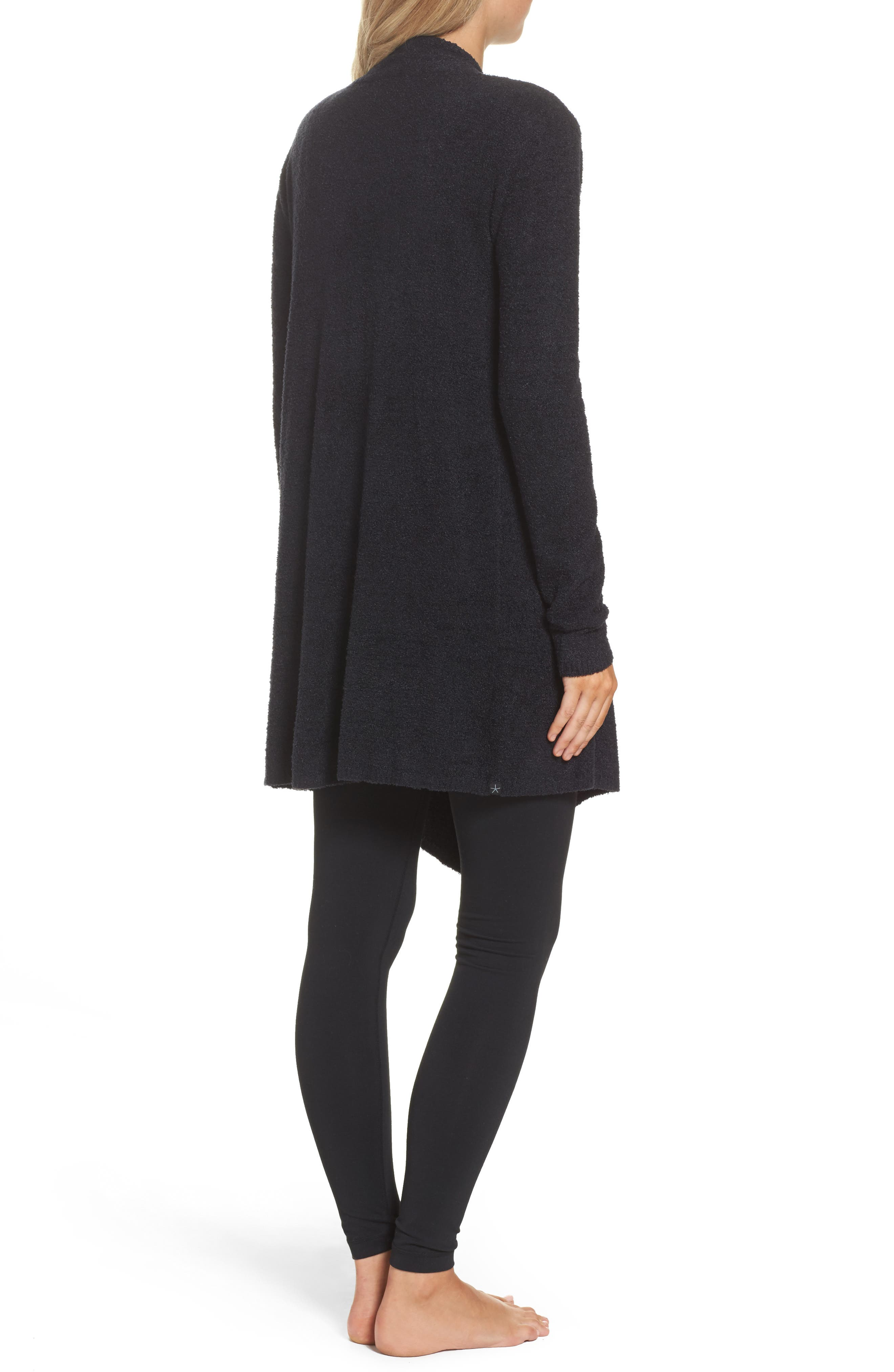 CozyChic Lite<sup>®</sup> Calypso Wrap Cardigan,                             Alternate thumbnail 2, color,                             BLACK