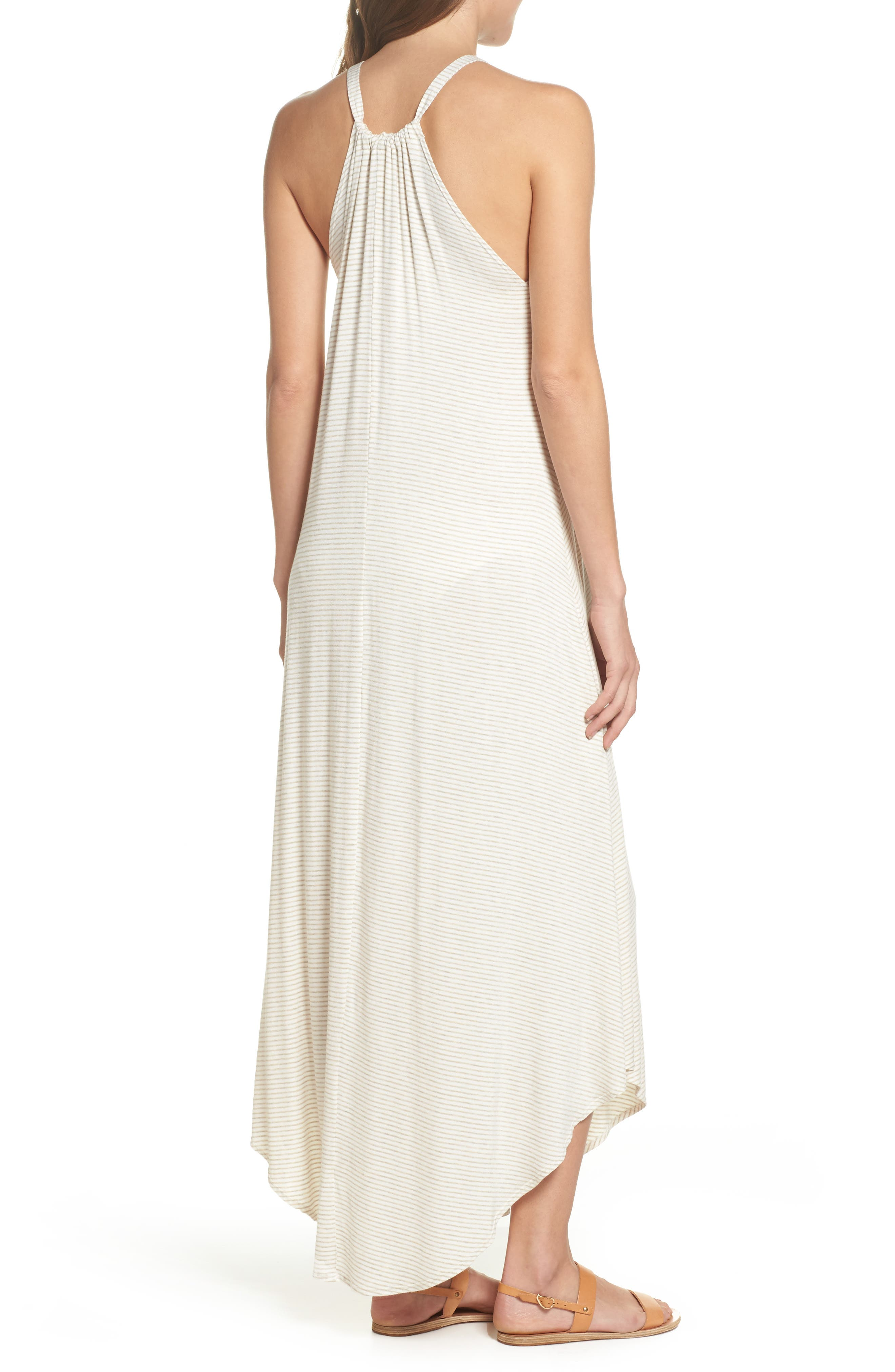 High Neck Cover-Up Dress,                             Alternate thumbnail 4, color,
