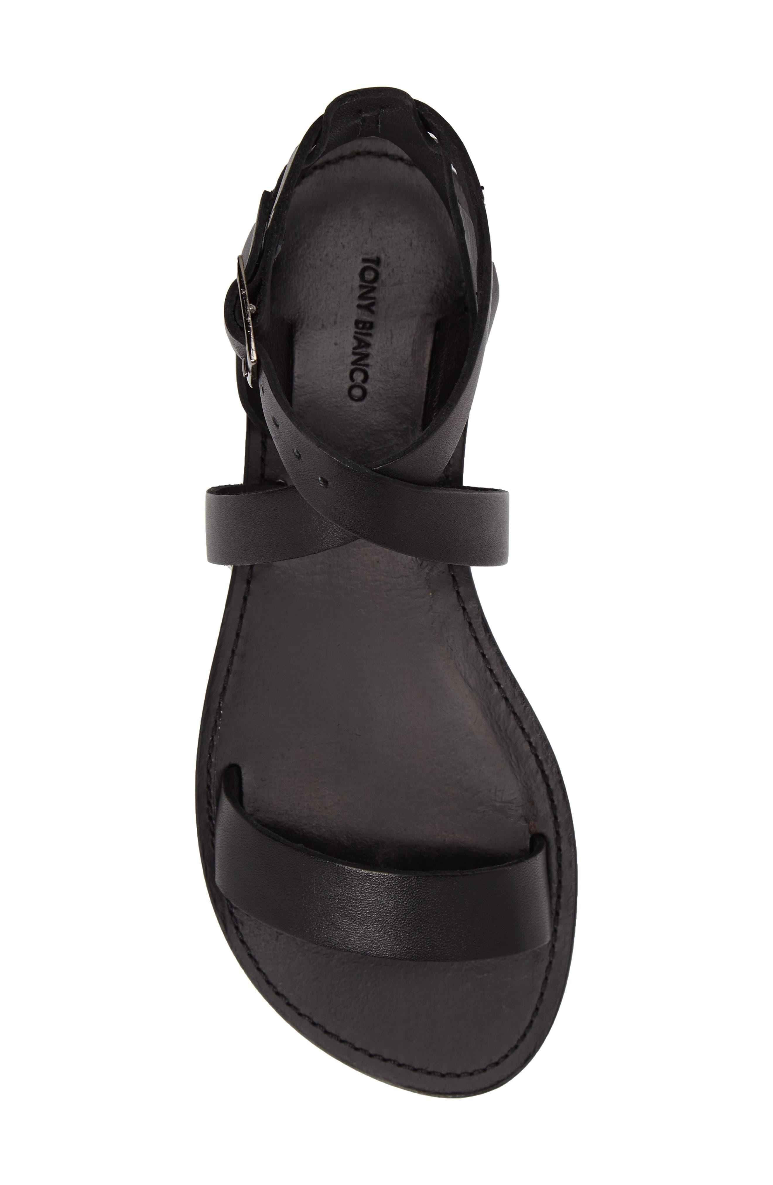 Flo Ankle Strap Sandal,                             Alternate thumbnail 5, color,                             001