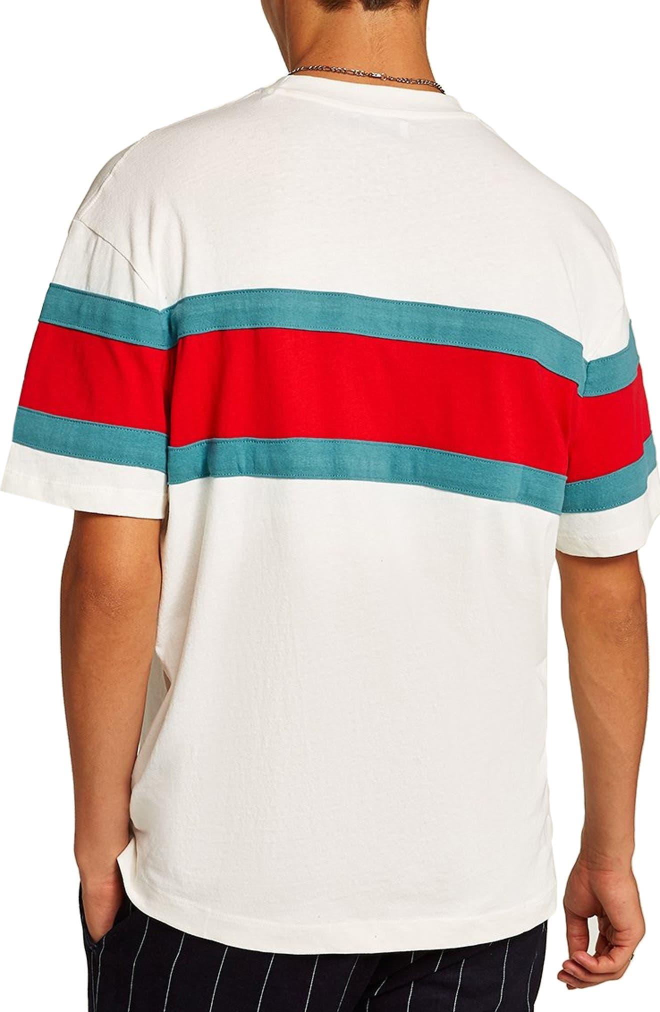 Oversize Stripe T-Shirt,                             Alternate thumbnail 2, color,                             101