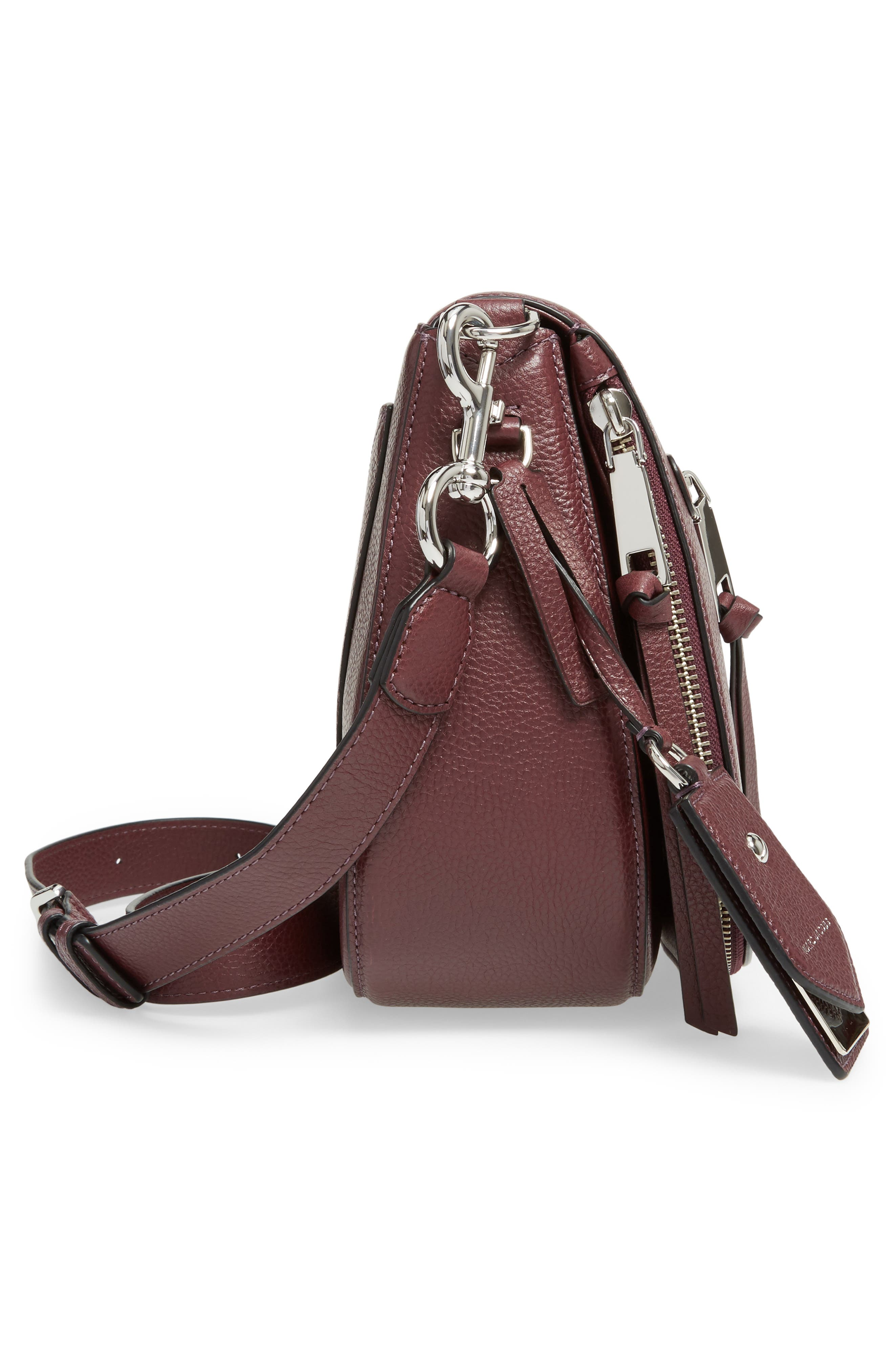 Recruit Nomad Pebbled Leather Crossbody Bag,                             Alternate thumbnail 5, color,                             538