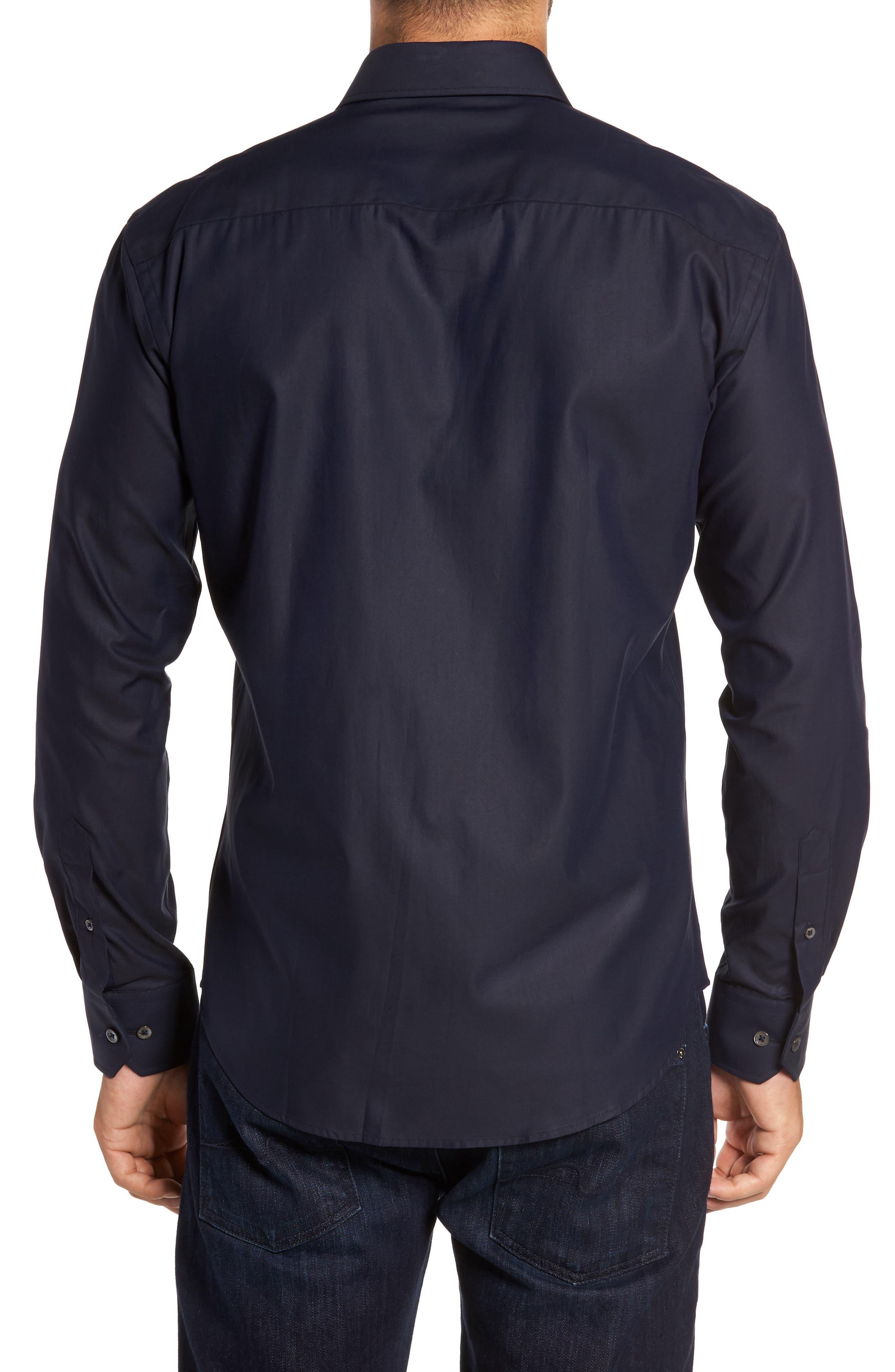 Trim Fit Solid Sport Shirt,                             Alternate thumbnail 7, color,