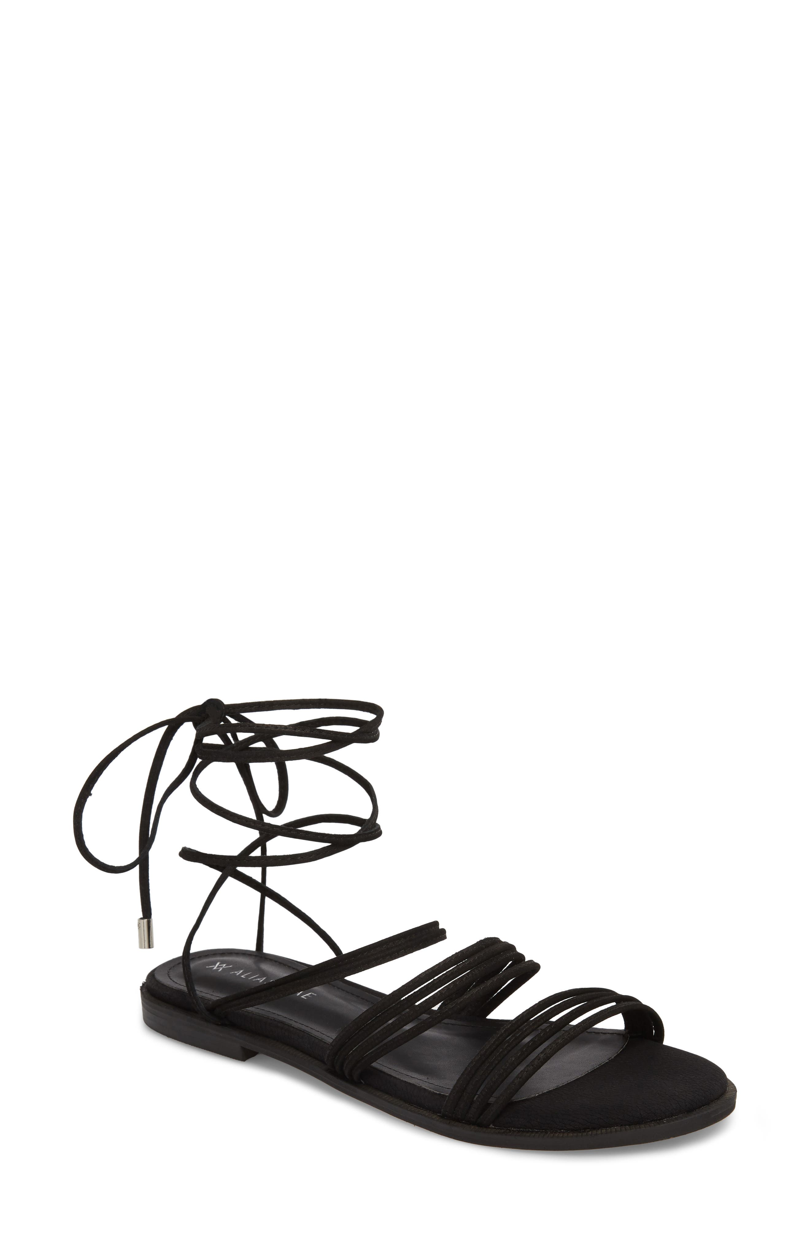 Theory Strappy Flat Sandal,                         Main,                         color,