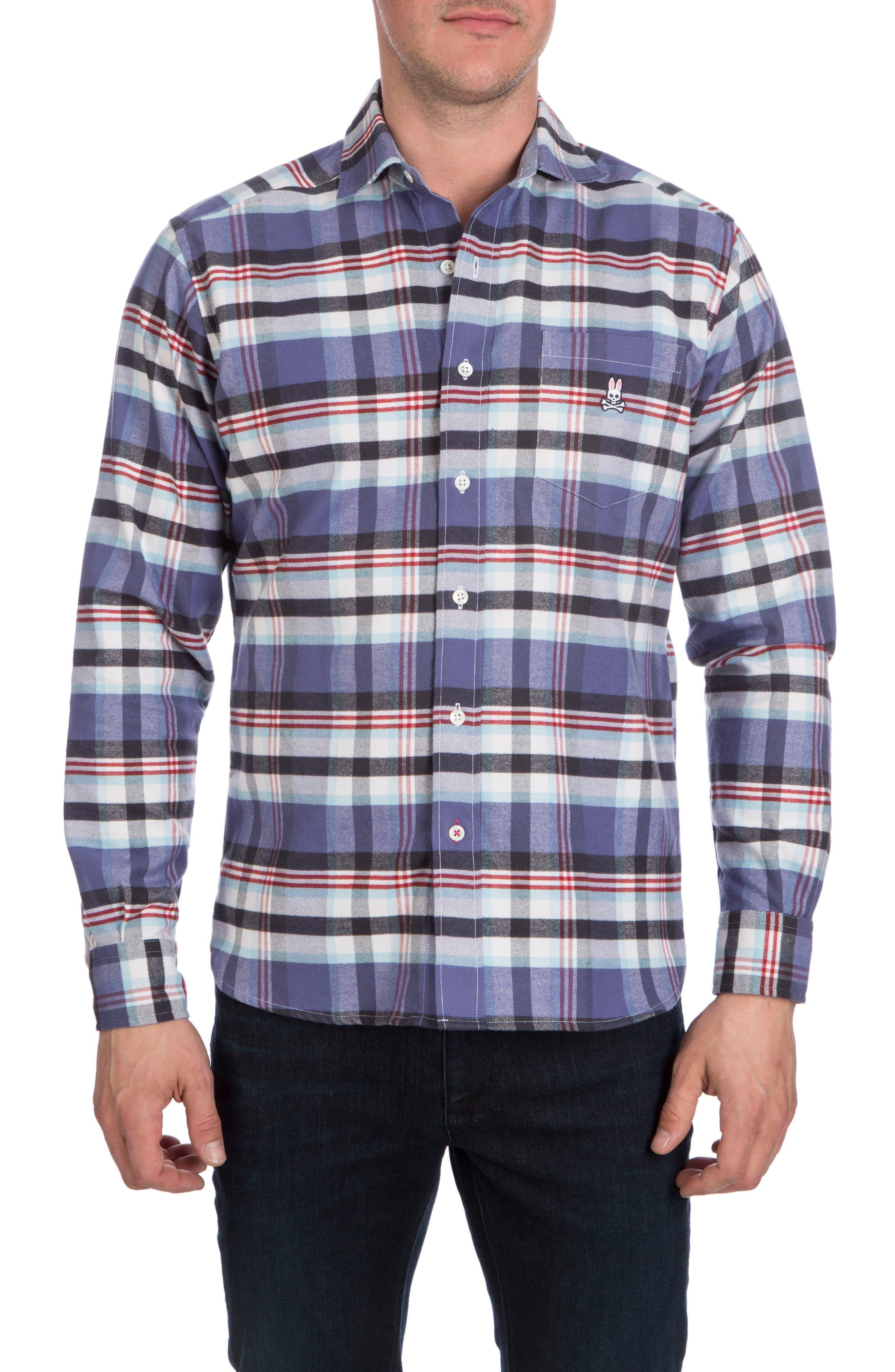 Flannel Sport Shirt,                             Main thumbnail 1, color,                             504