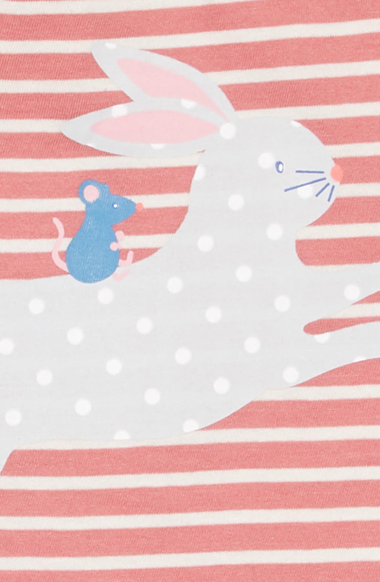 Reversible Jersey Dress,                             Alternate thumbnail 4, color,                             AUTUMN ROSE/ ECRU
