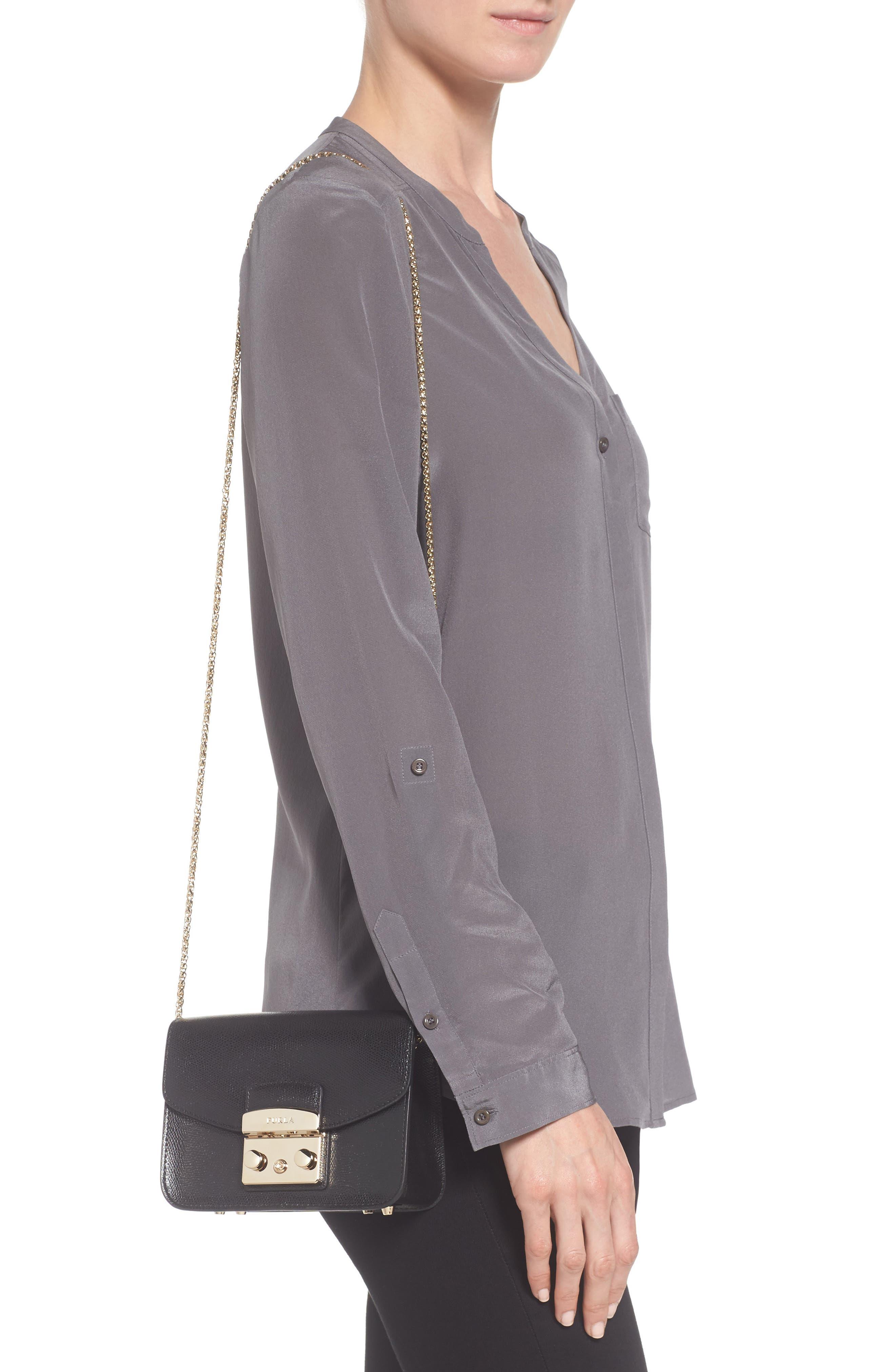 Mini Metropolis Leather Crossbody Bag,                             Alternate thumbnail 2, color,                             004