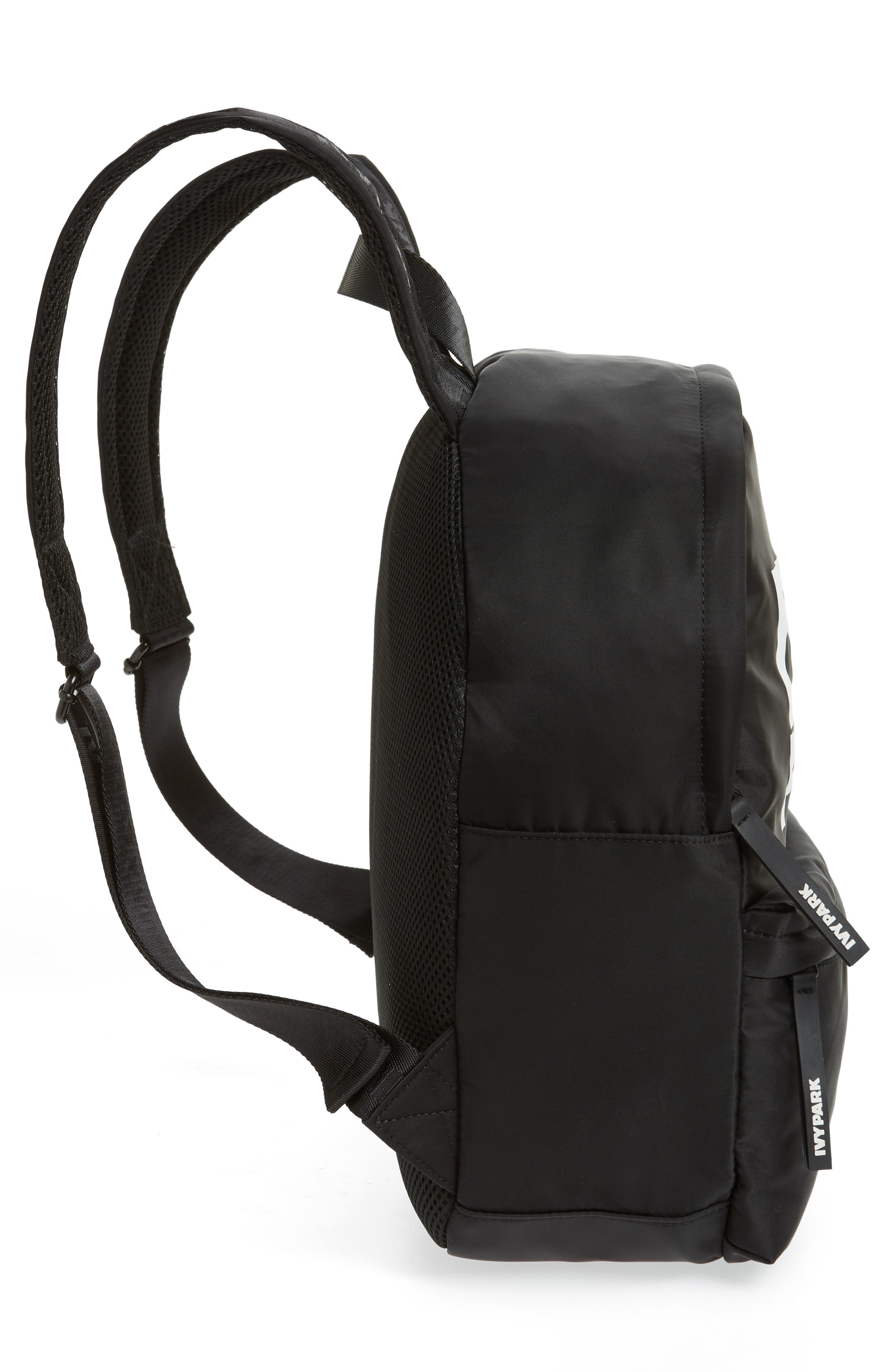 Layered Logo Backpack,                             Alternate thumbnail 5, color,                             BLACK