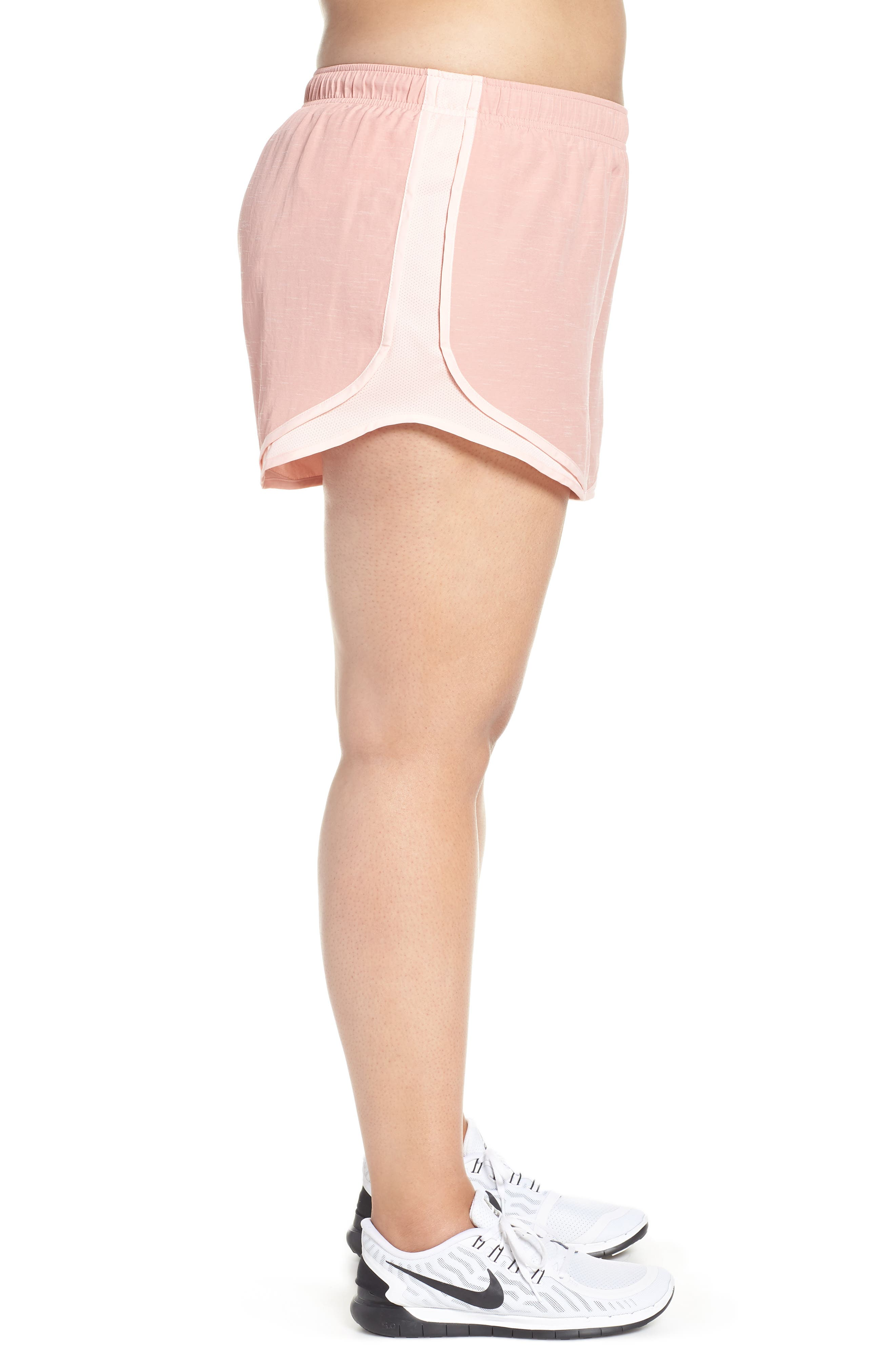 Dry Tempo High Rise Running Shorts,                             Alternate thumbnail 3, color,                             RUST PINK/ STORM PINK