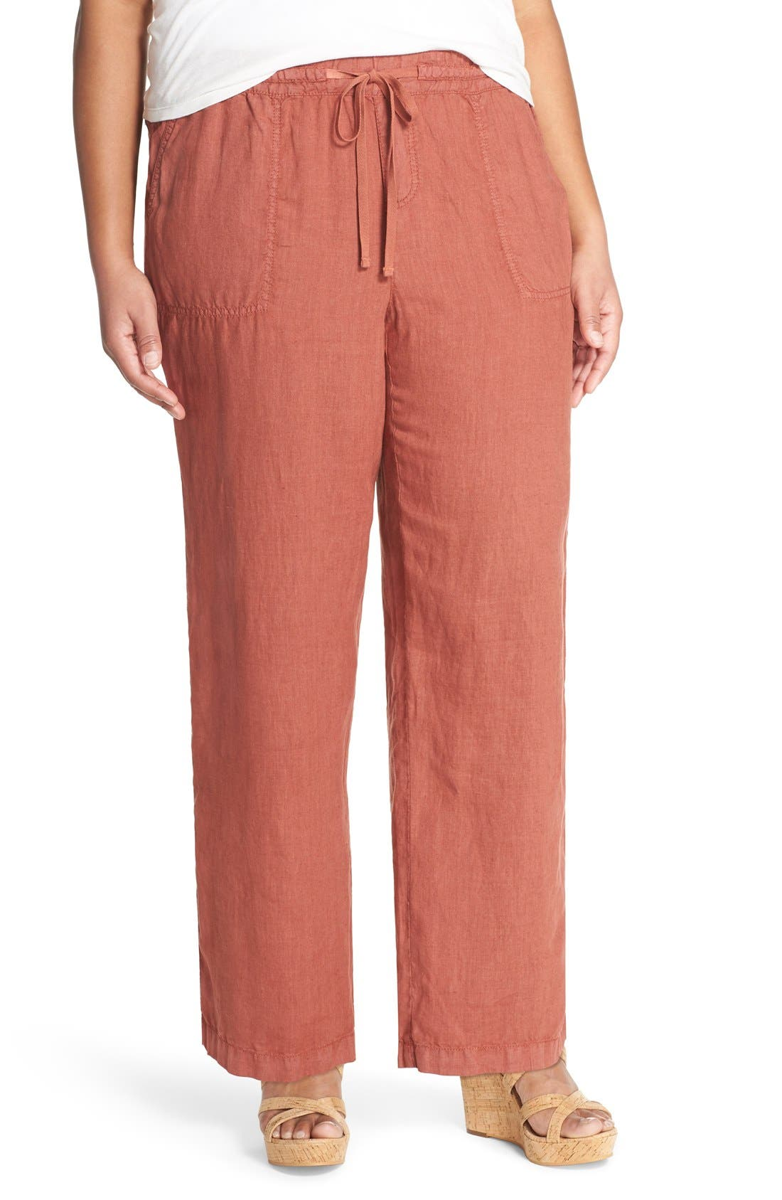 Drawstring Linen Pants,                             Main thumbnail 3, color,