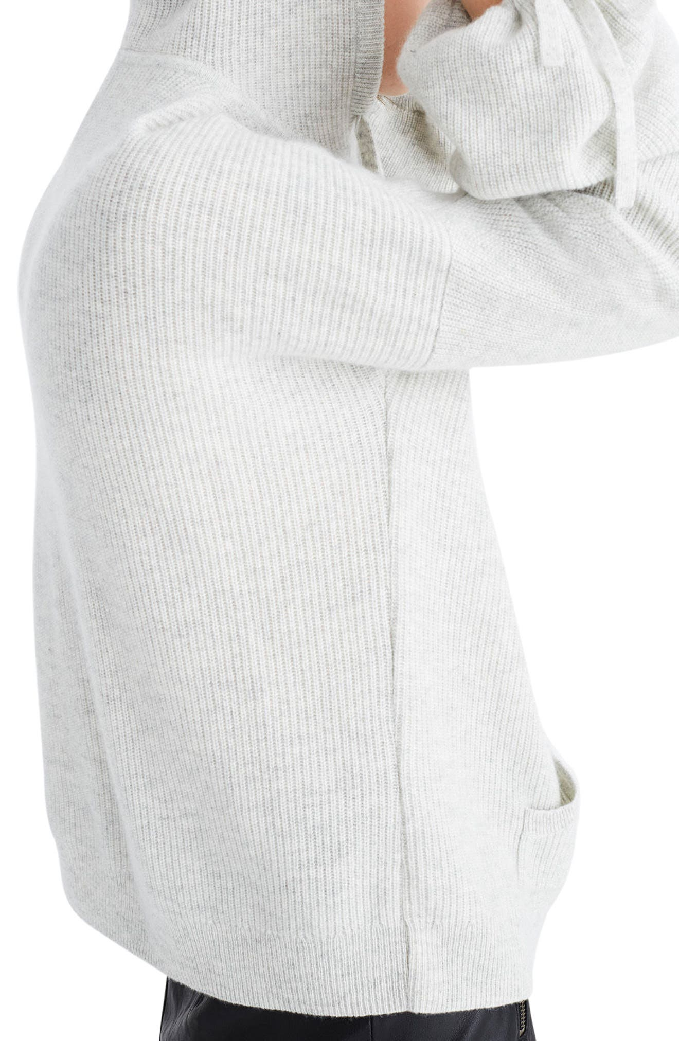 Cashmere Hooded Sweater,                             Alternate thumbnail 2, color,                             020