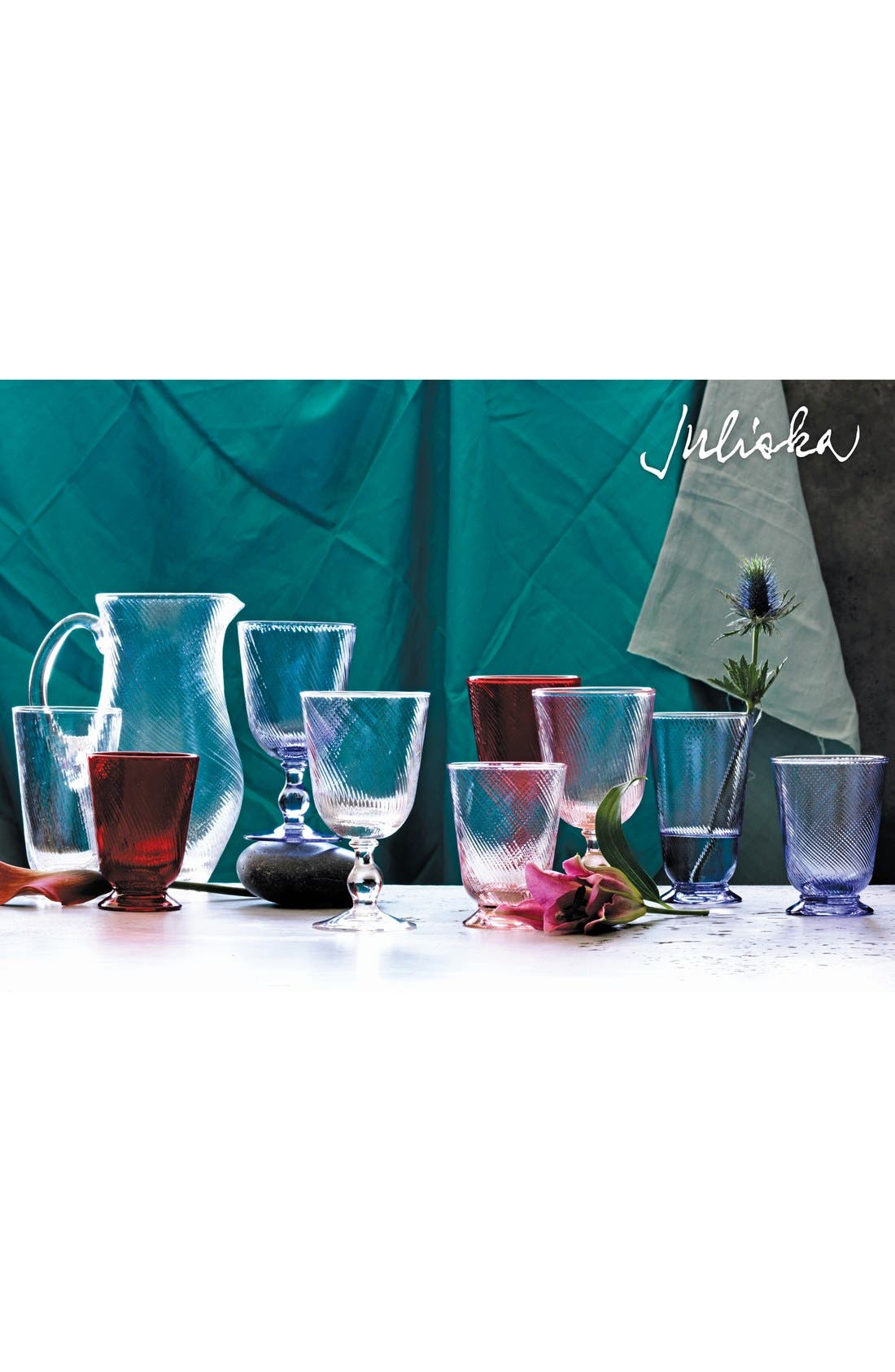 JULISKA,                             'Arabella' Blue Glass Goblet,                             Alternate thumbnail 2, color,                             400