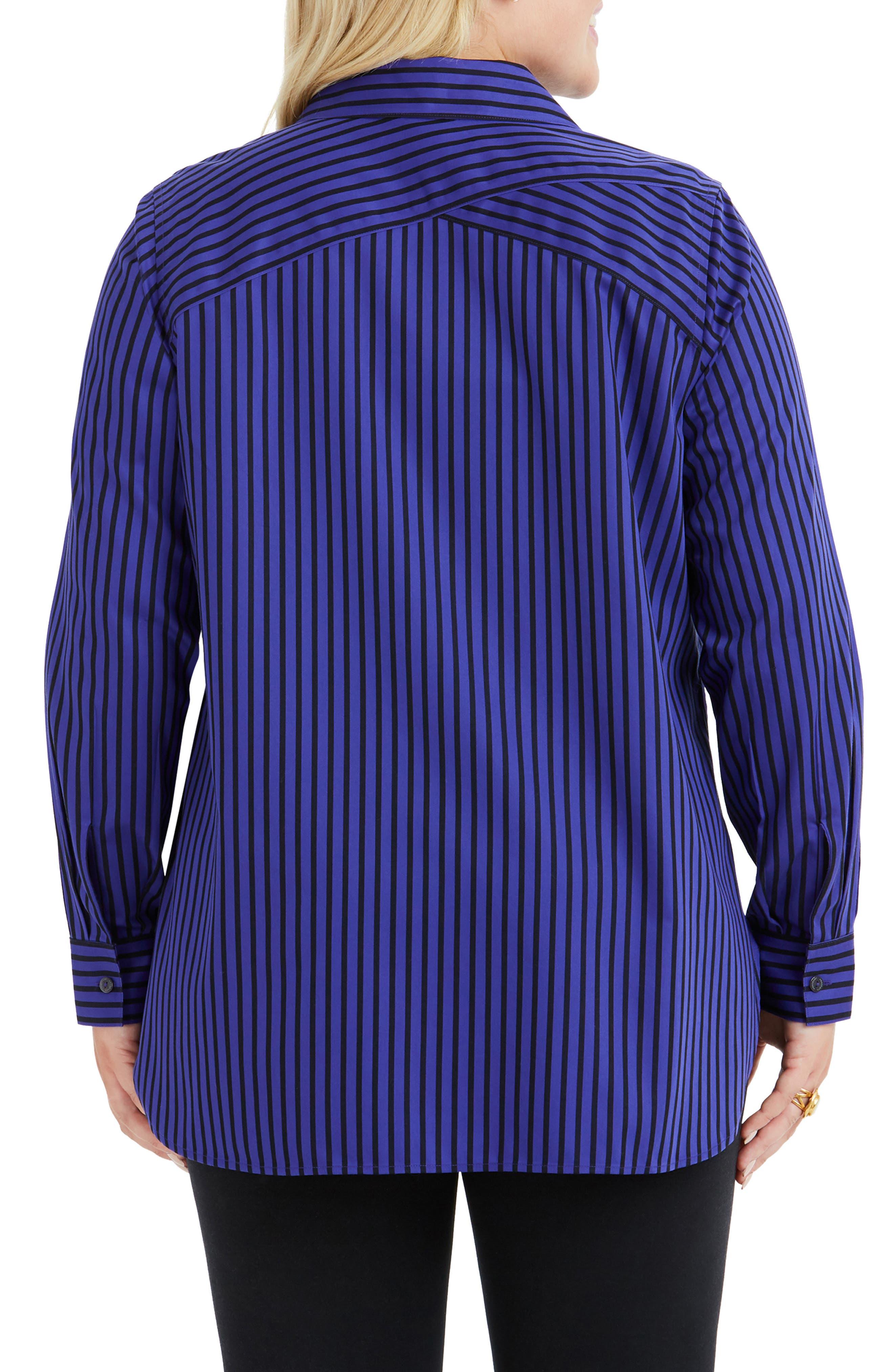 Vera Holiday Stripe Tunic Shirt,                             Alternate thumbnail 2, color,                             REGAL PURPLE