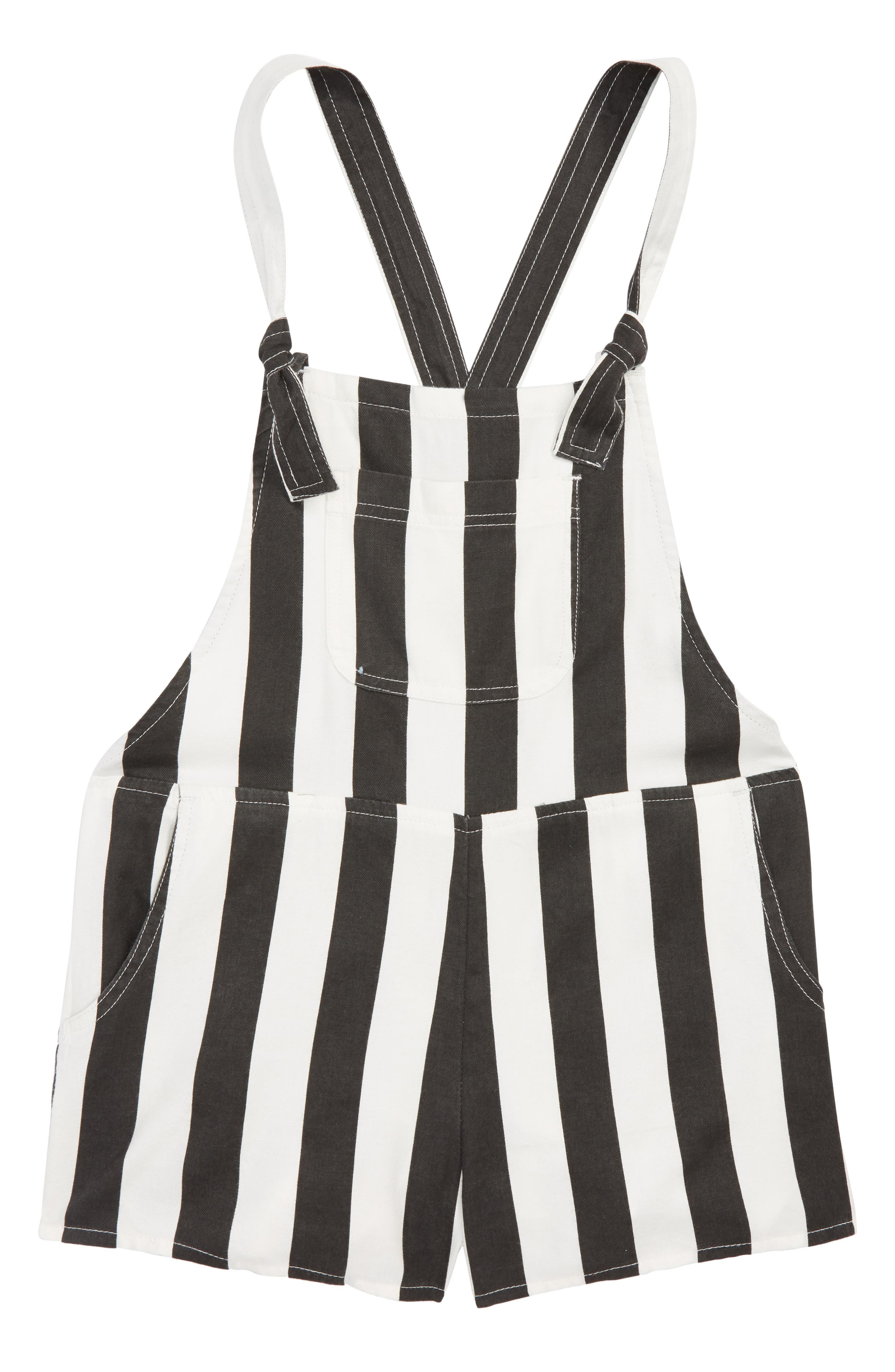 Roamin Stripe Short Overalls,                             Main thumbnail 1, color,                             001