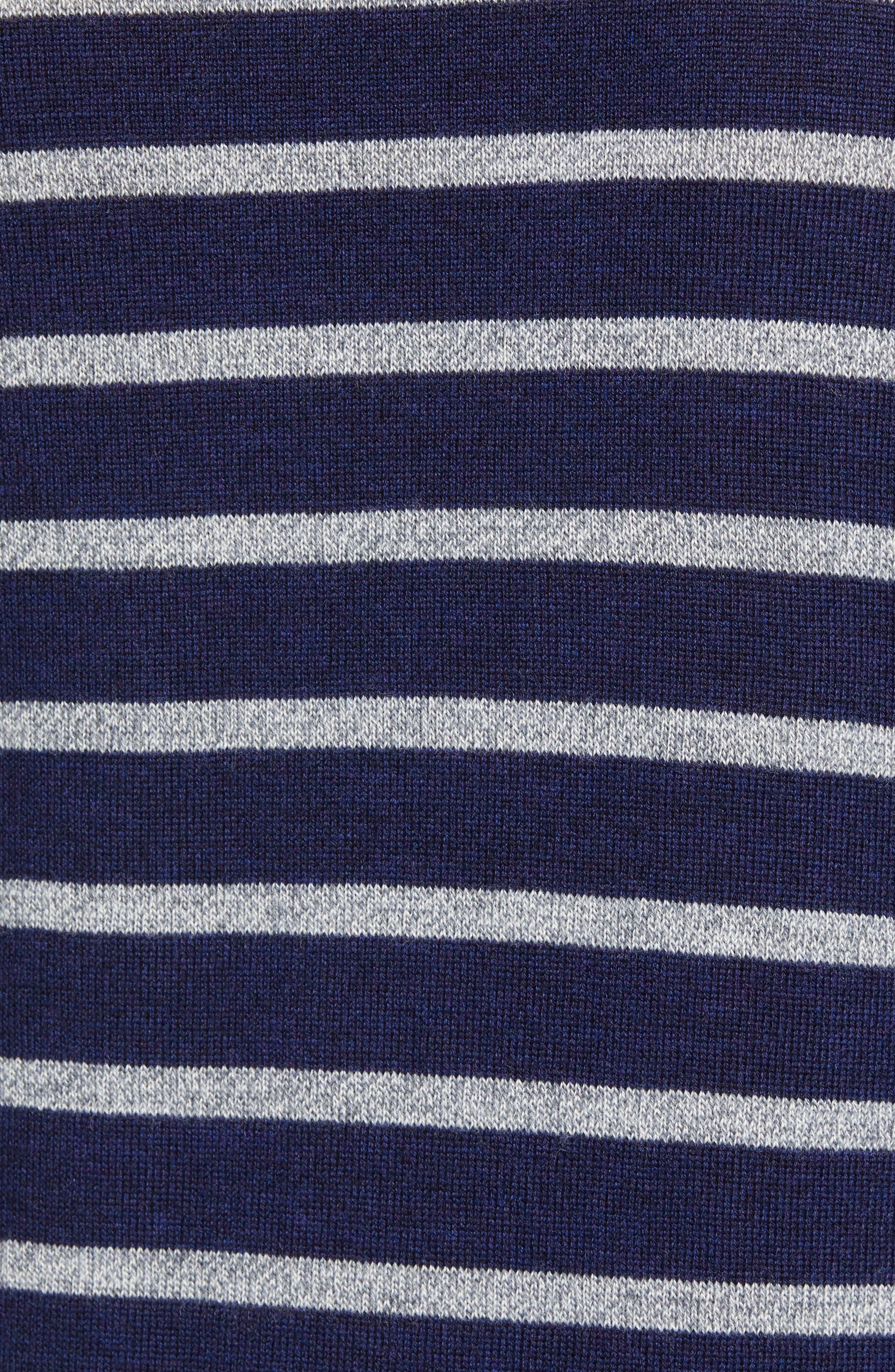 Slim Fit Turtleneck Merino Wool Sweater,                             Alternate thumbnail 5, color,                             HEATHER INK/ COOL GREY