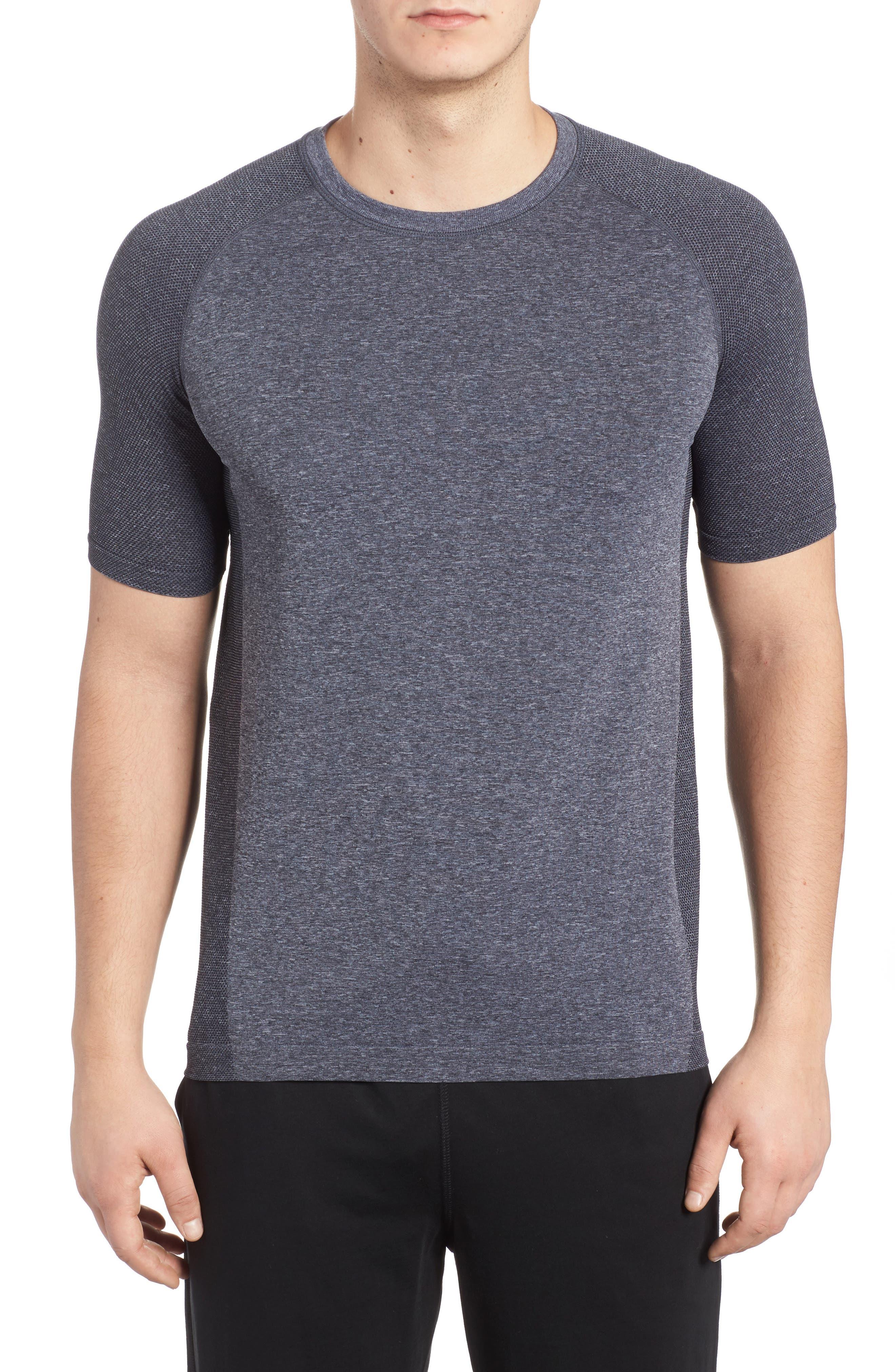 Vapor Performance T-Shirt,                         Main,                         color, ASPHALT