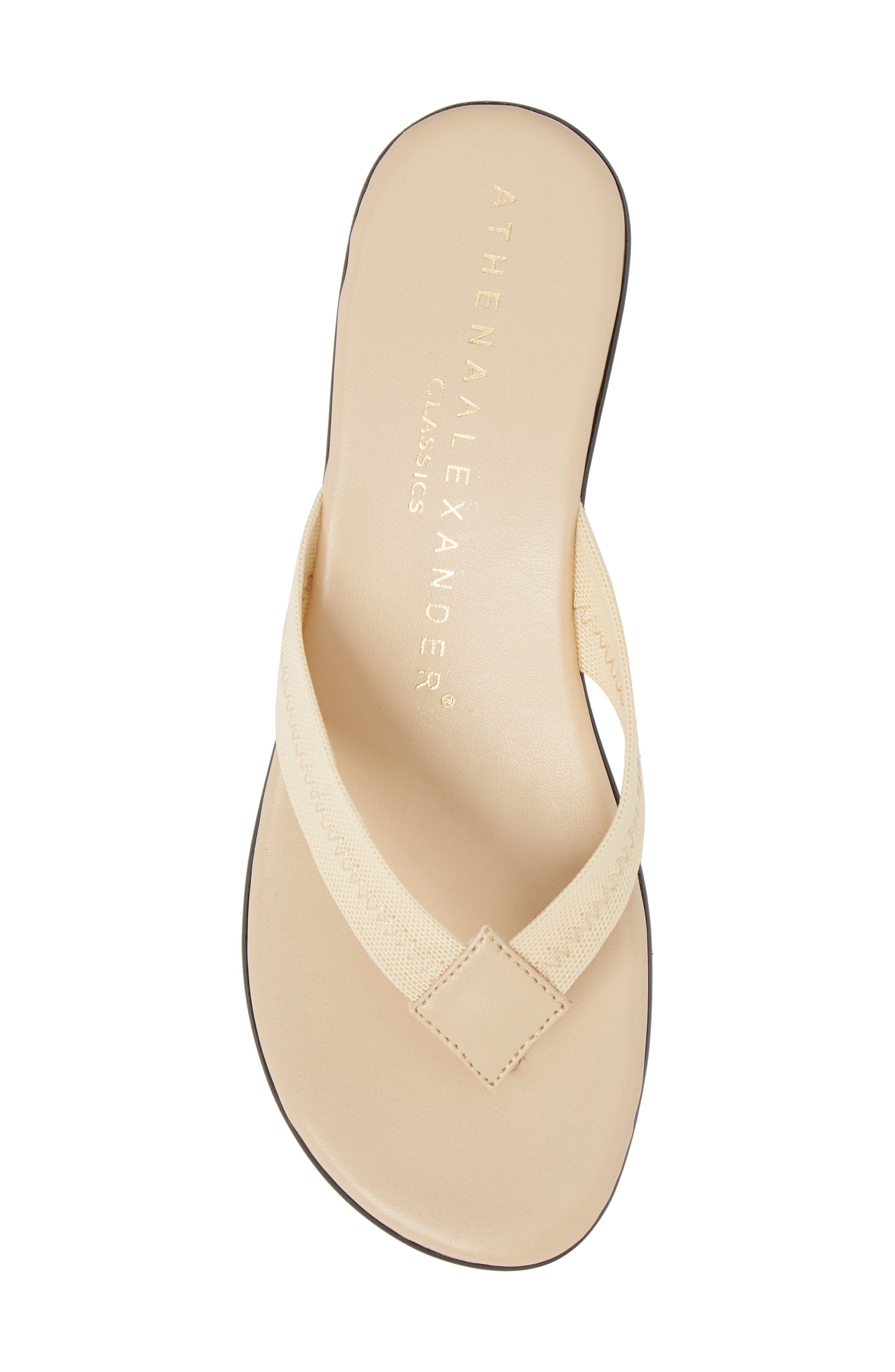 Ying Flip Flop,                             Alternate thumbnail 5, color,                             BEIGE STRETCH FABRIC