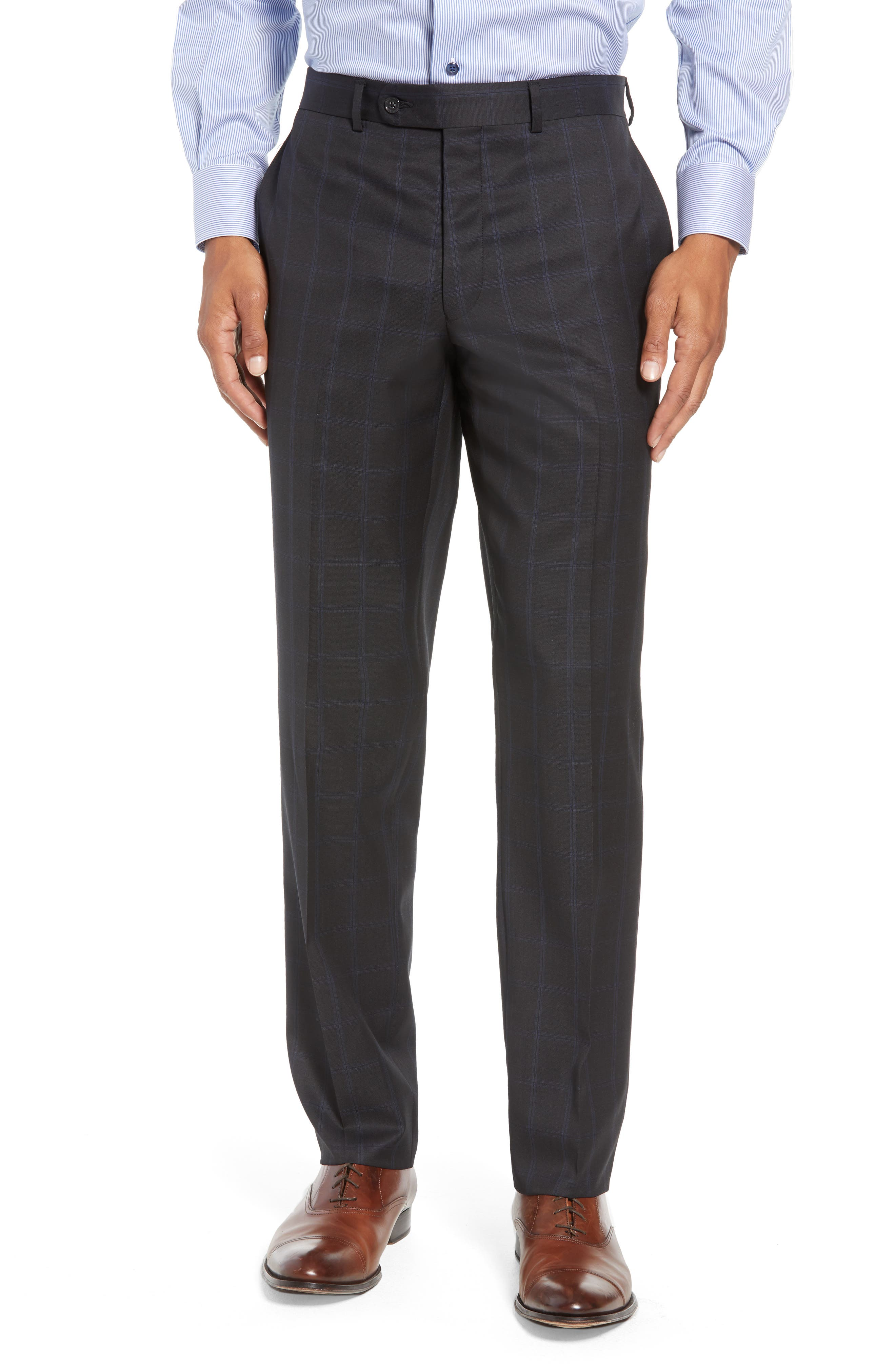 Ryan Classic Fit Windowpane Wool Suit,                             Alternate thumbnail 6, color,                             CHARCOAL