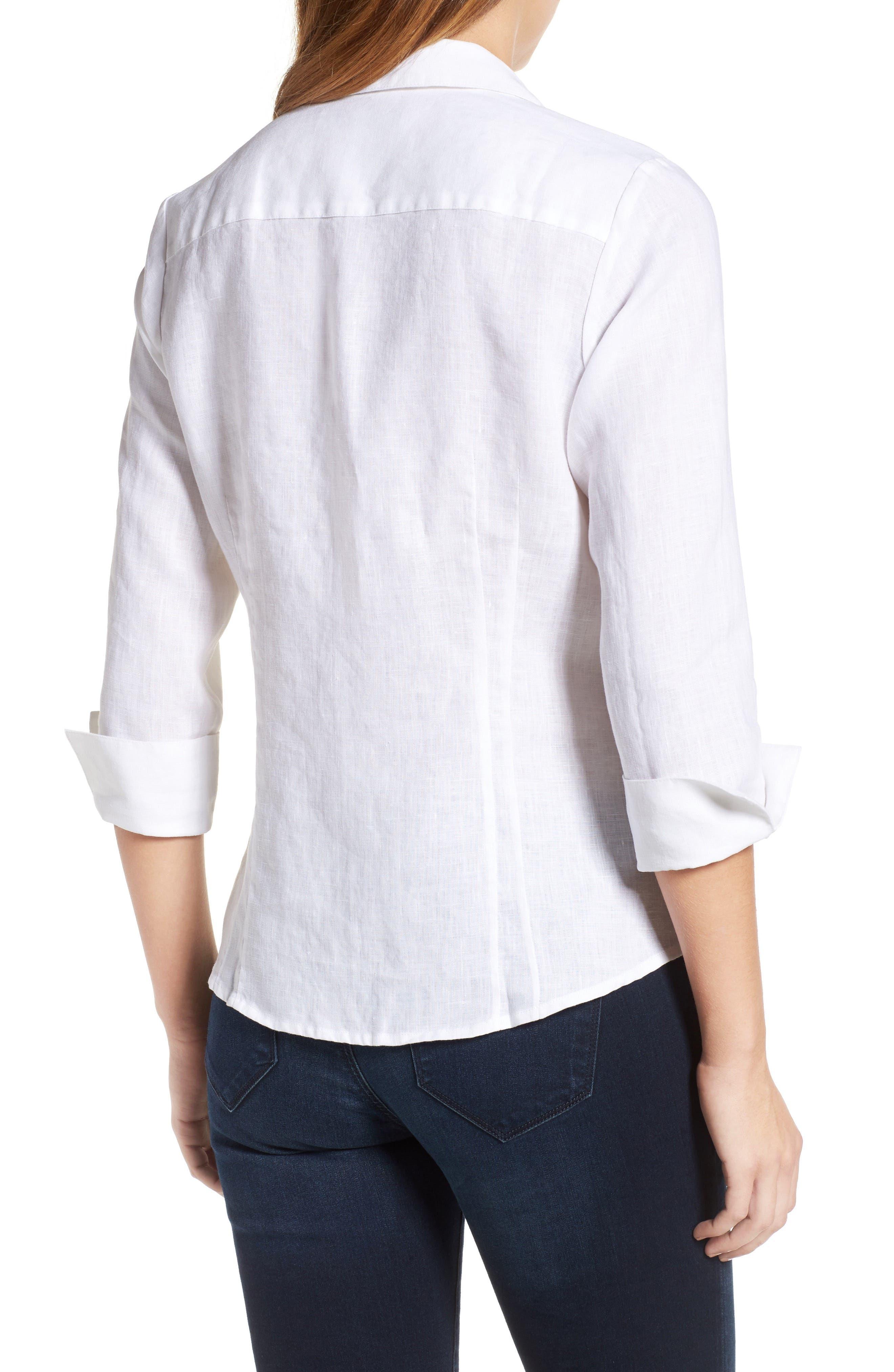 Linen Chambray Shirt,                             Alternate thumbnail 10, color,