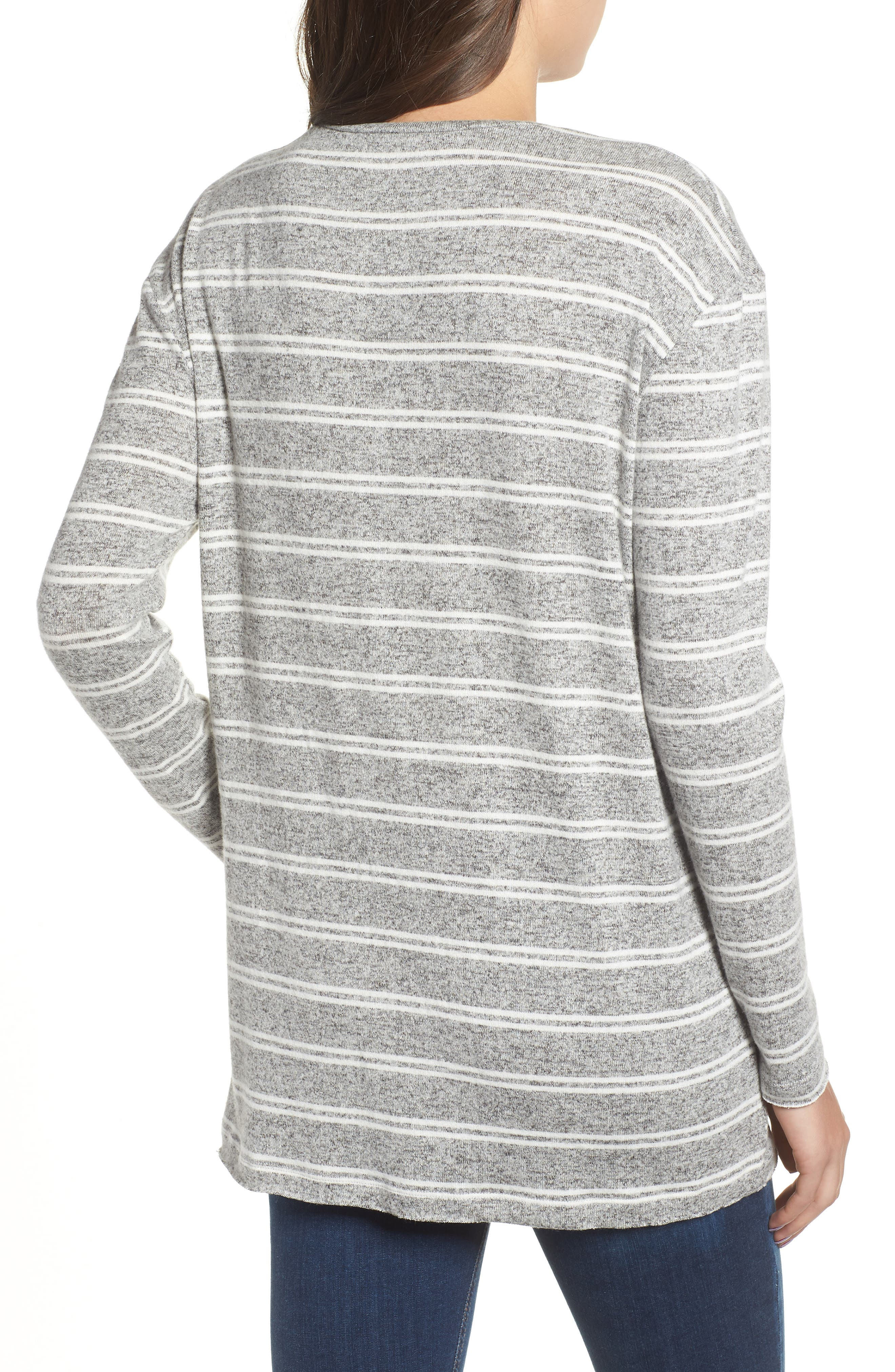 BP., Cozy V-Neck Sweater, Alternate thumbnail 2, color, 050
