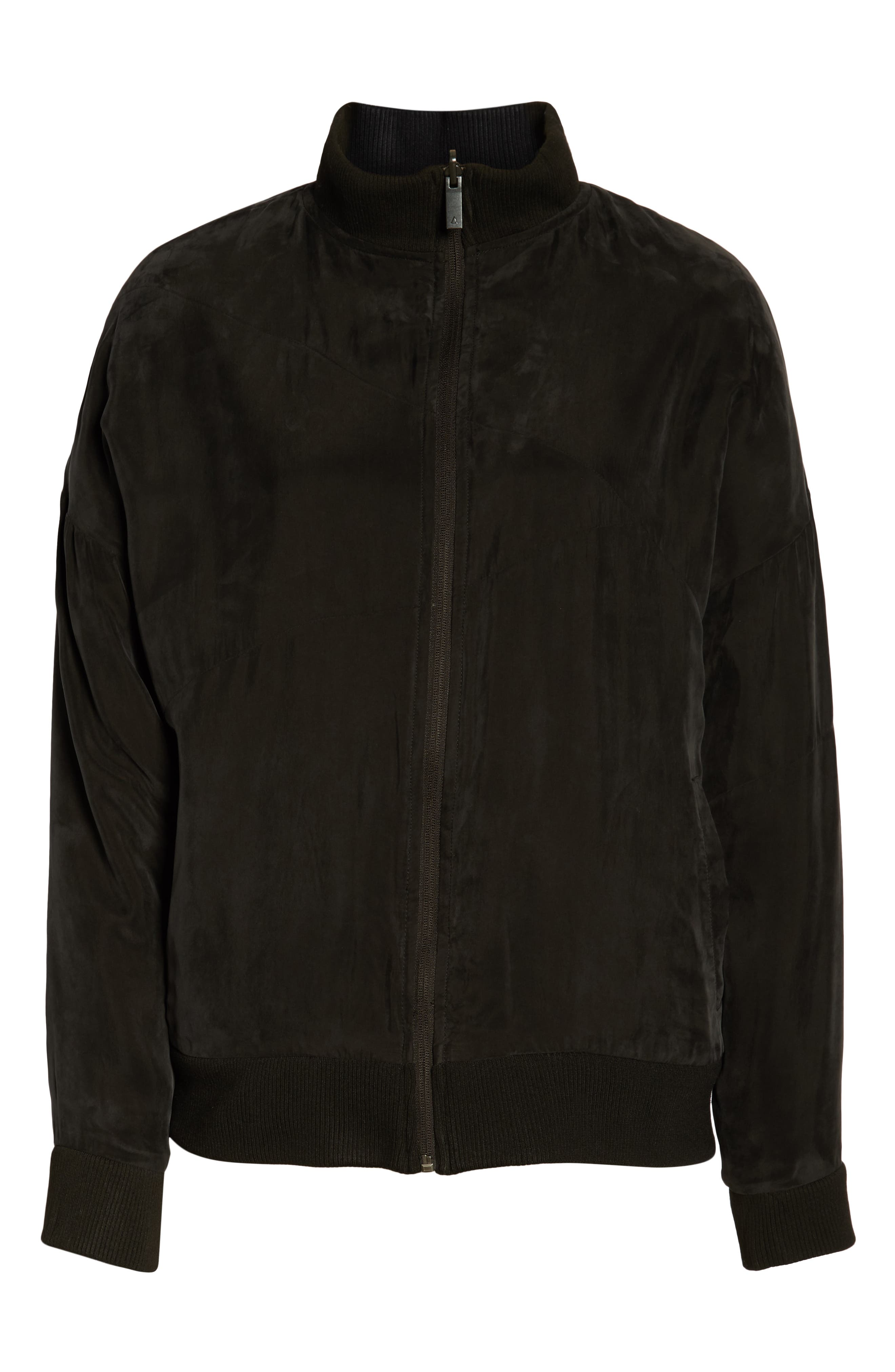 Arcs Reversible Bomber Jacket,                             Alternate thumbnail 7, color,                             BLACK