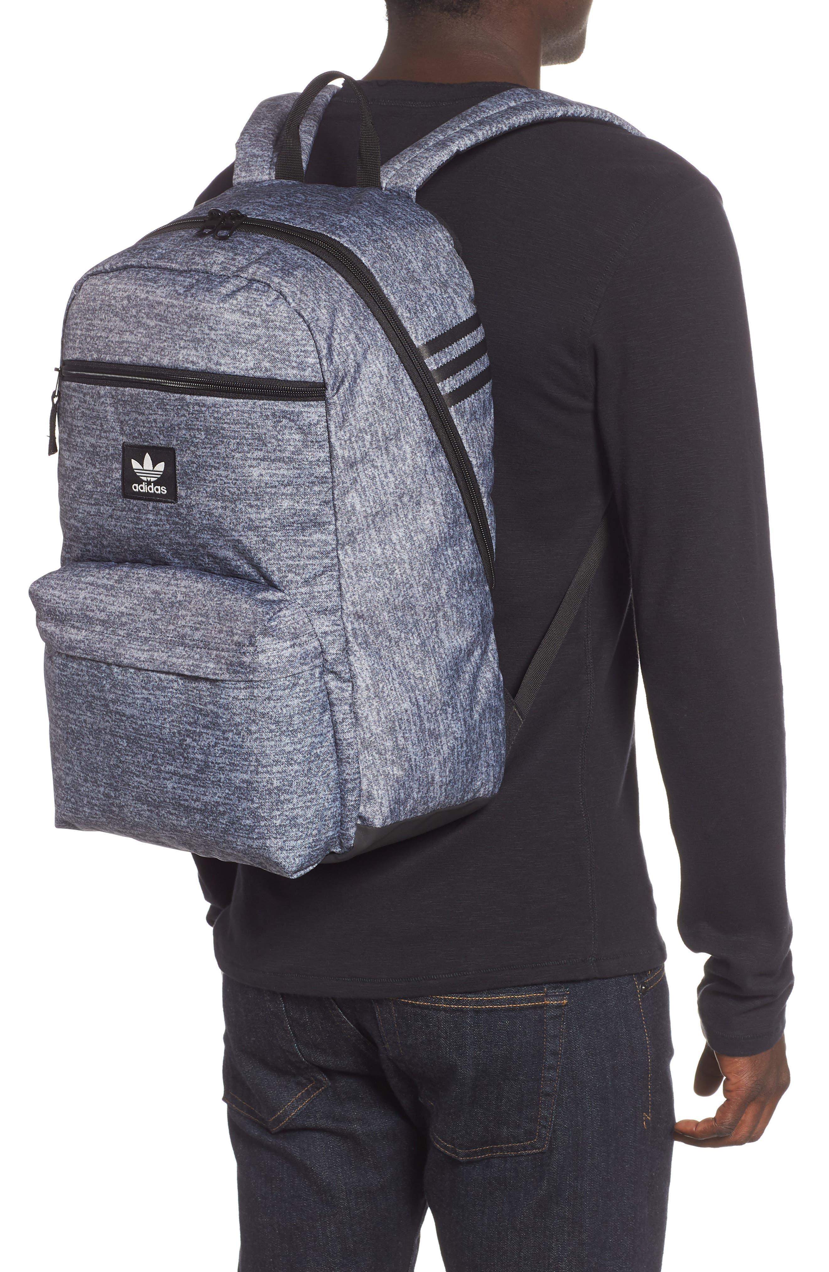 adidas Original National Backpack,                             Alternate thumbnail 2, color,                             ONYX JERSEY/ BLACK