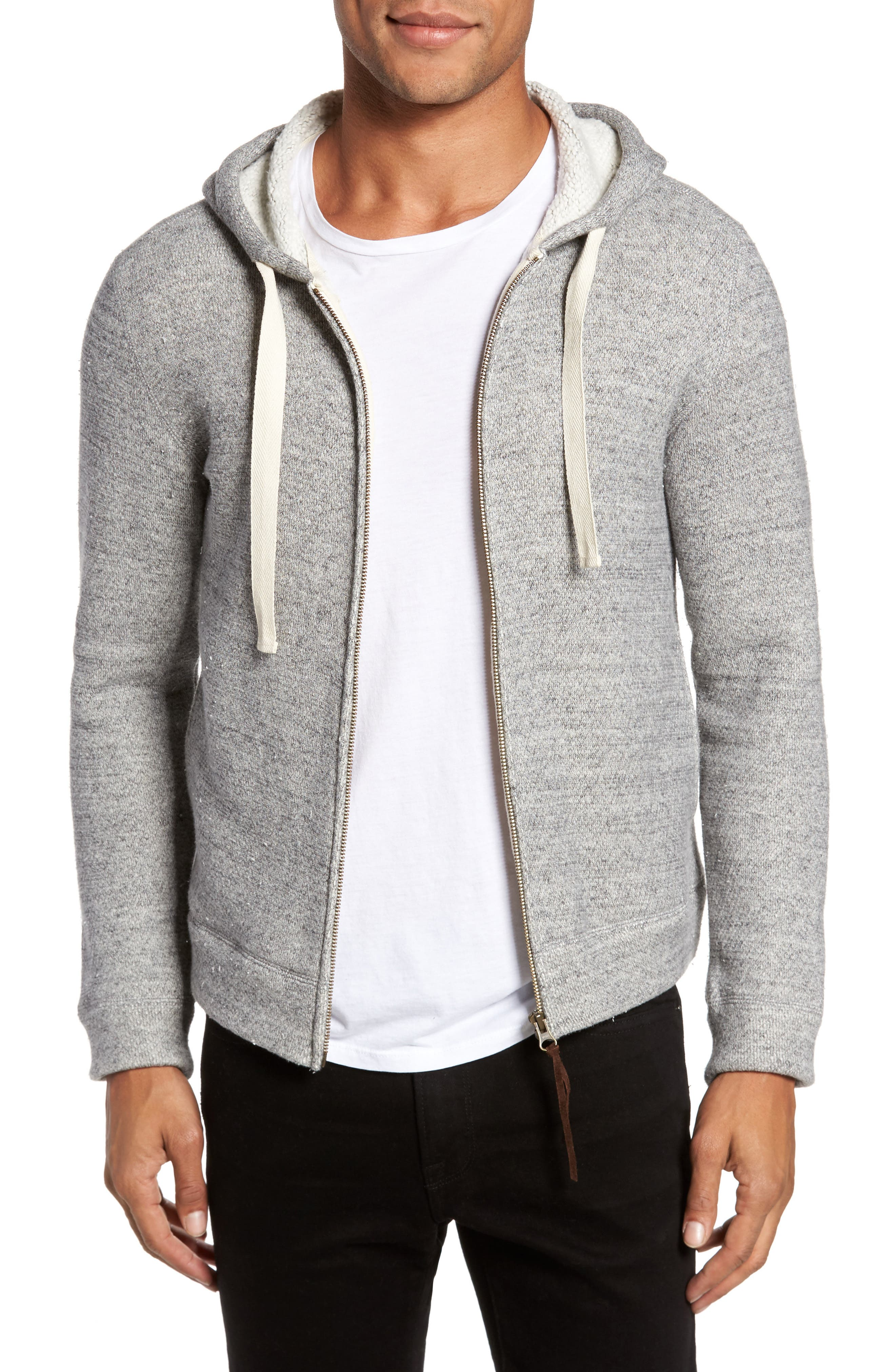 Brushed Cotton Zip Hoodie,                             Main thumbnail 1, color,