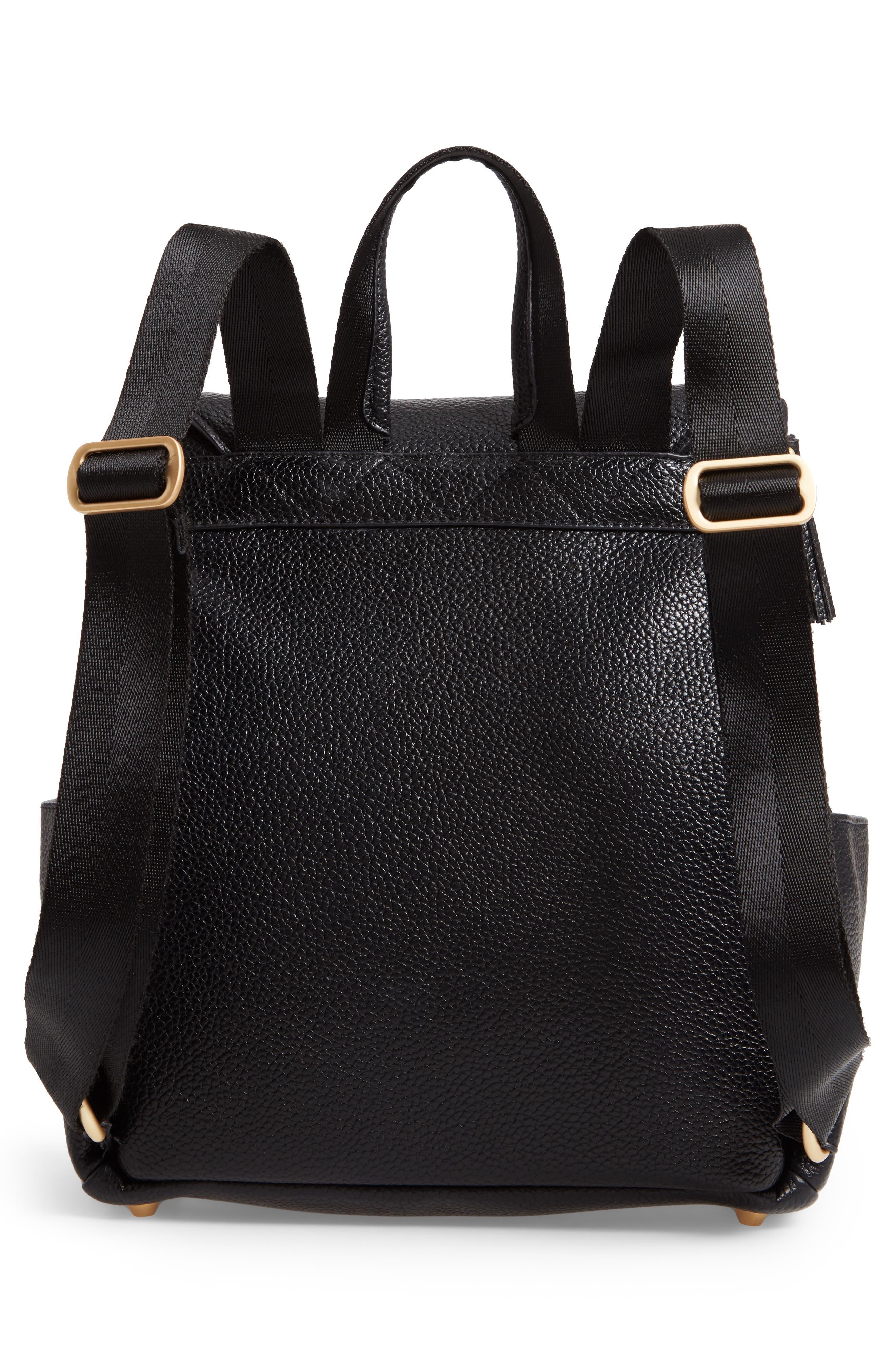 Mini Convertible Diaper Bag,                             Alternate thumbnail 3, color,                             EBONY