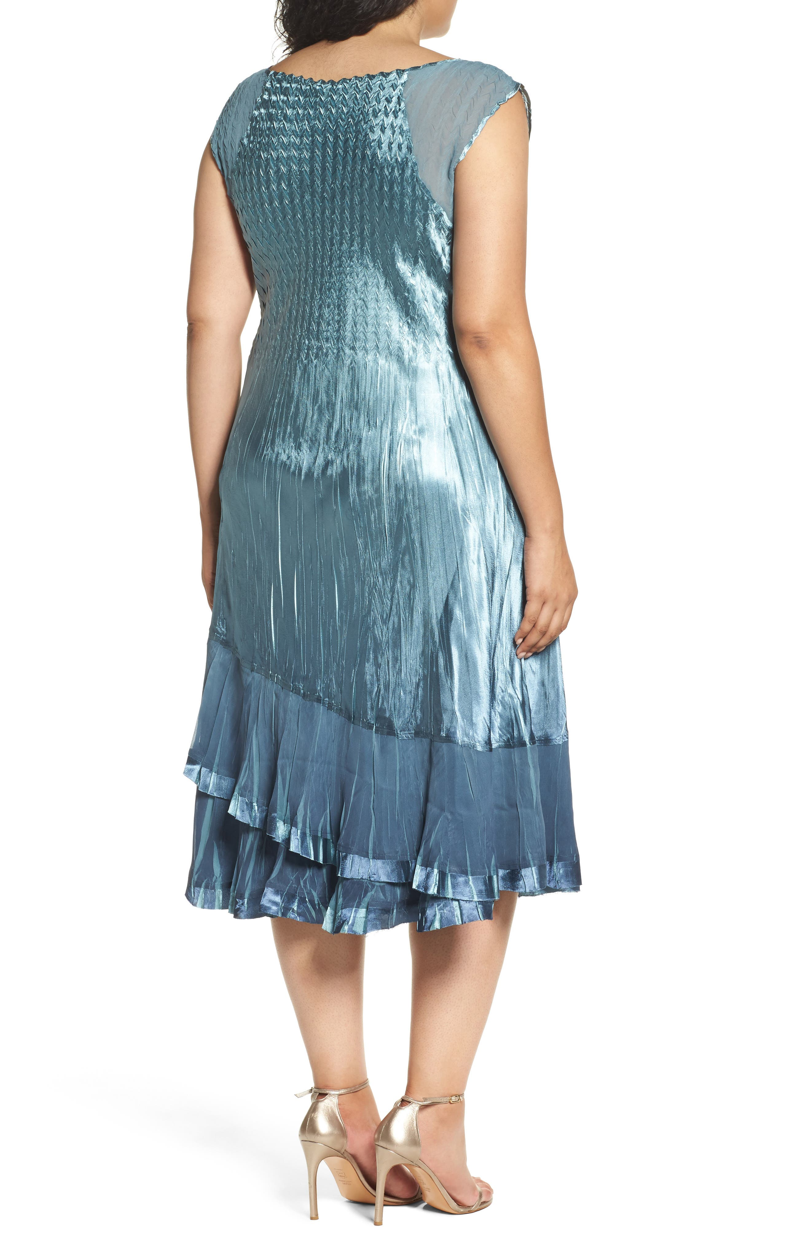 Tiered Dress with Jacket,                             Alternate thumbnail 4, color,                             405