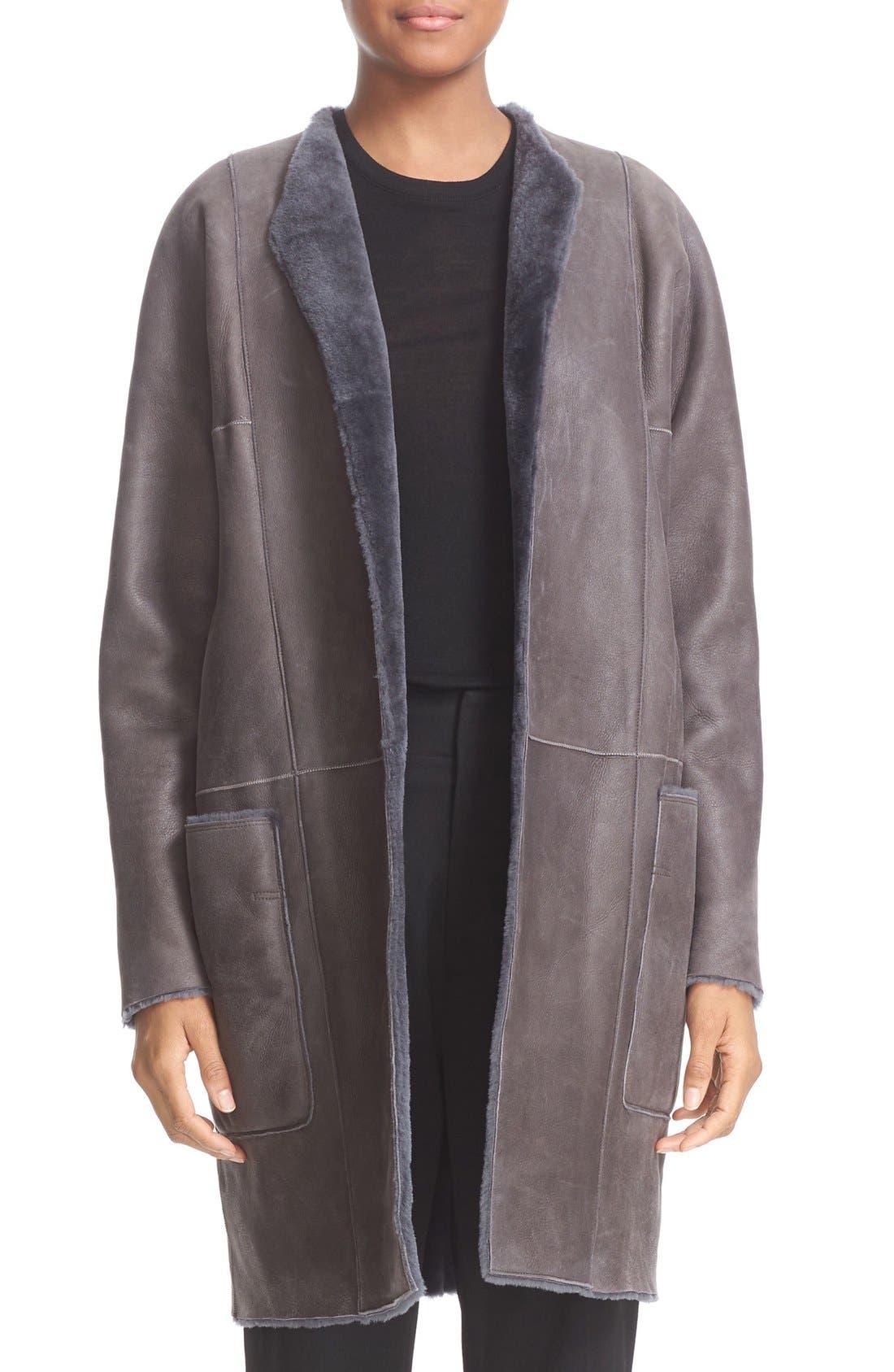 Reversible Genuine Shearling Car Coat,                             Alternate thumbnail 5, color,                             082