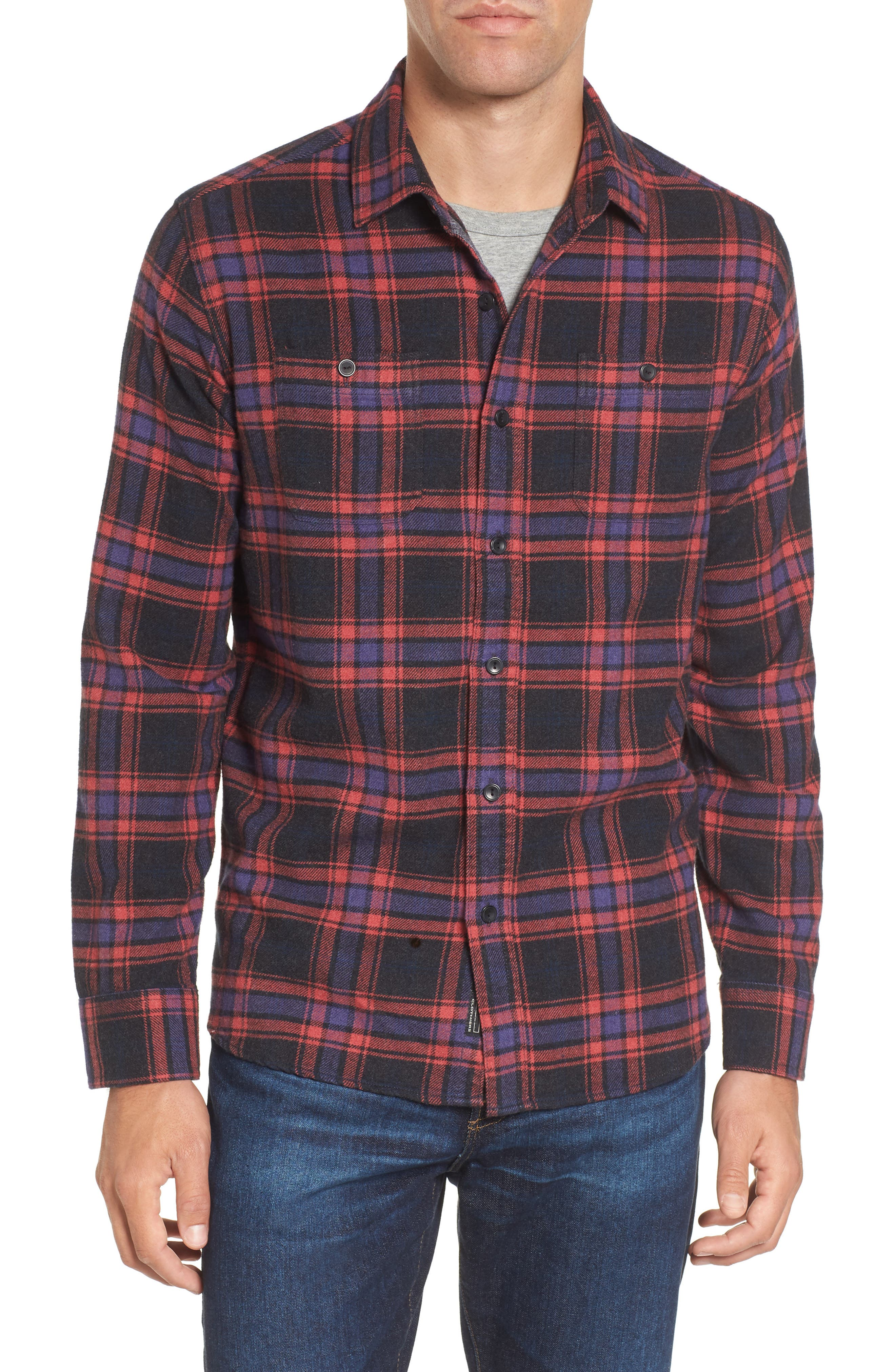 Chaucer Heritage Flannel Shirt,                             Main thumbnail 1, color,