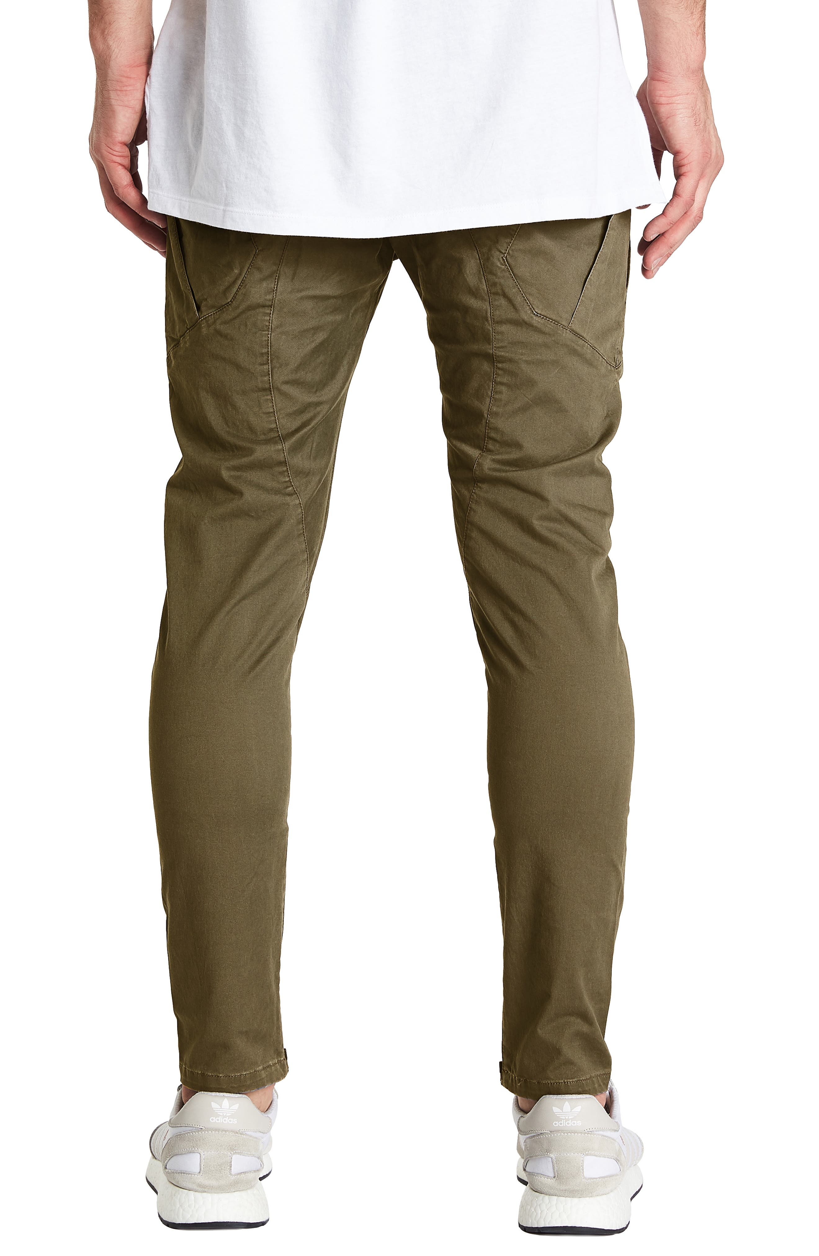 Tactical Slim Fit Pants,                             Alternate thumbnail 2, color,                             IVY GREEN