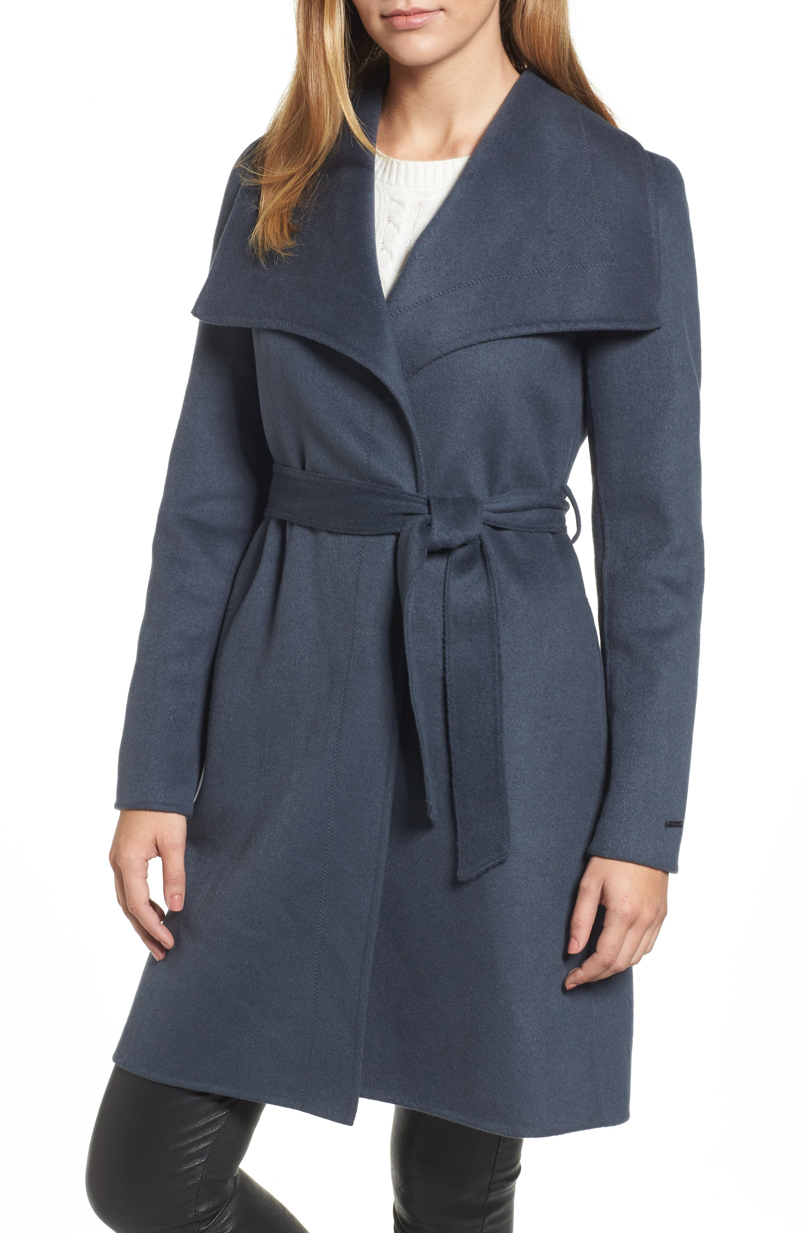 Ellie Double Face Wool Blend Wrap Coat,                             Main thumbnail 2, color,
