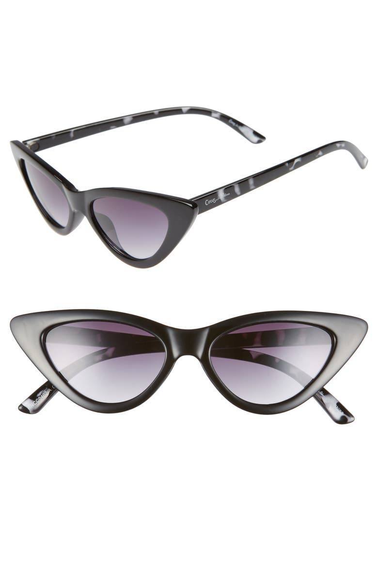 955b3e553e Circus By Sam Edelman 55Mm Extreme Cat Eye Sunglasses - Black  Oatmeal
