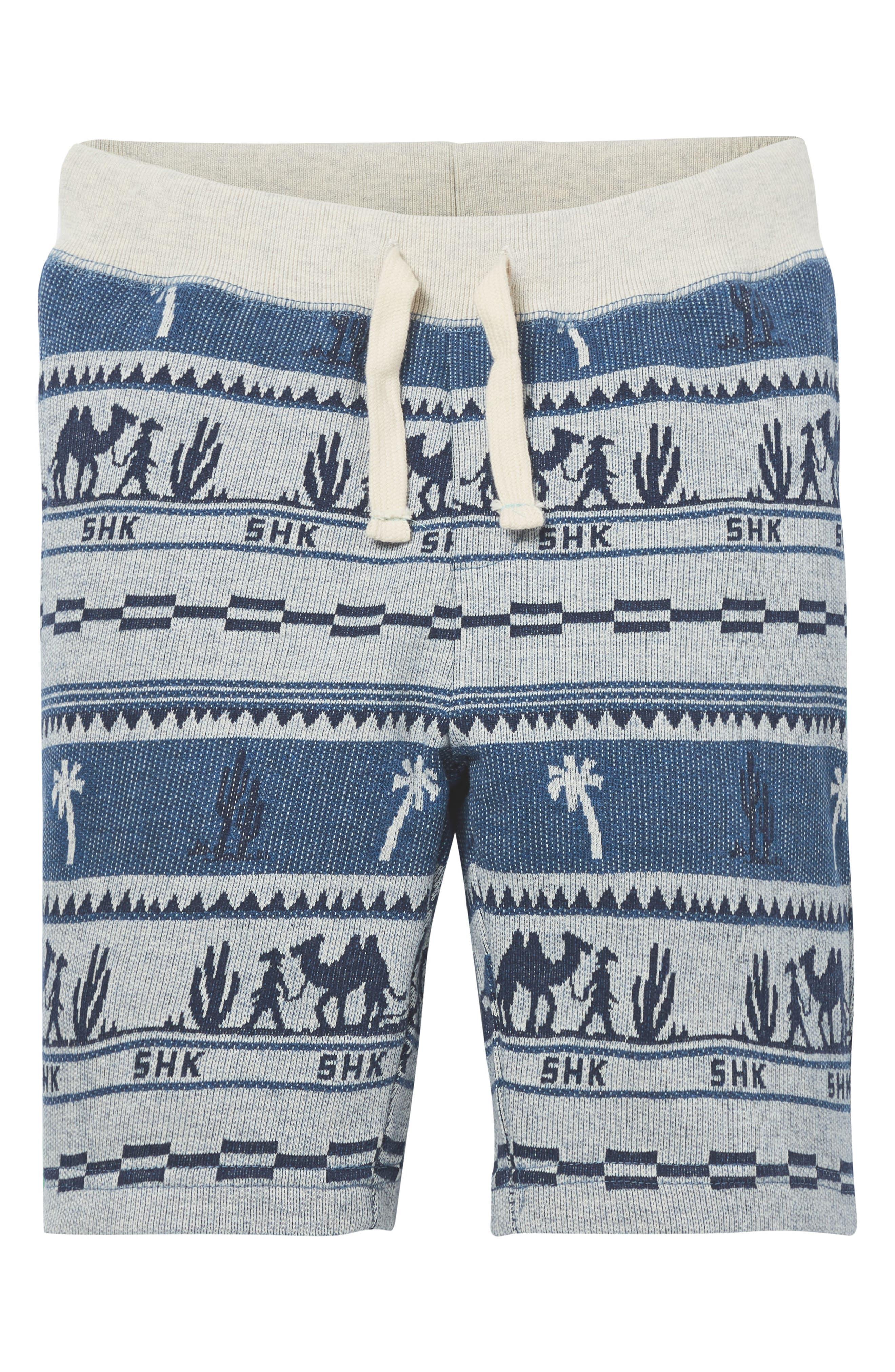 Print Knit Shorts,                         Main,                         color, 400