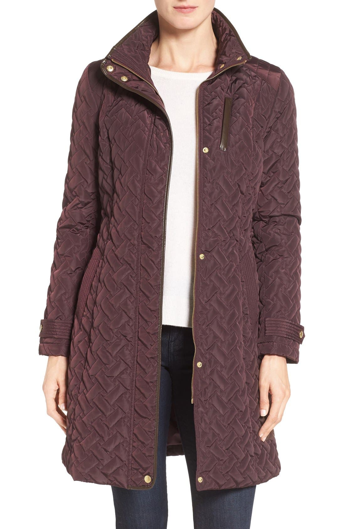 Belted Quilted Coat,                             Main thumbnail 7, color,