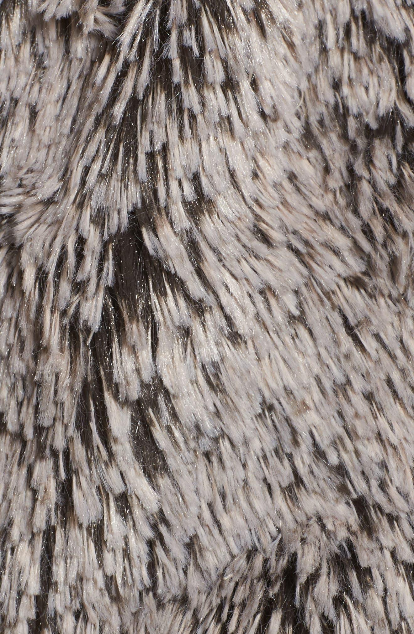 Faux Fur Drape Front Vest,                             Alternate thumbnail 6, color,                             020