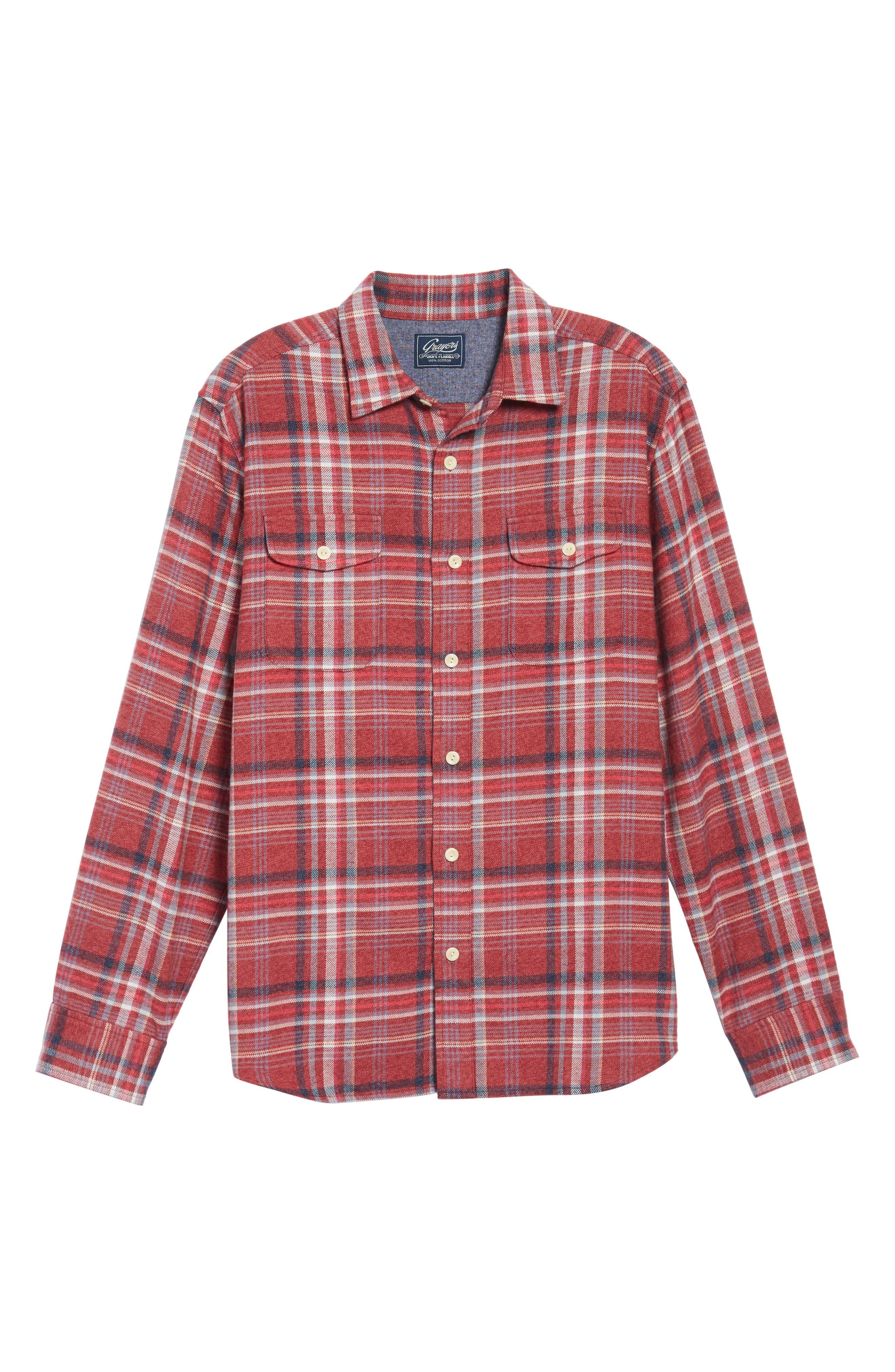 Milbrook Modern Fit Lux Flannel Sport Shirt,                             Alternate thumbnail 6, color,                             643