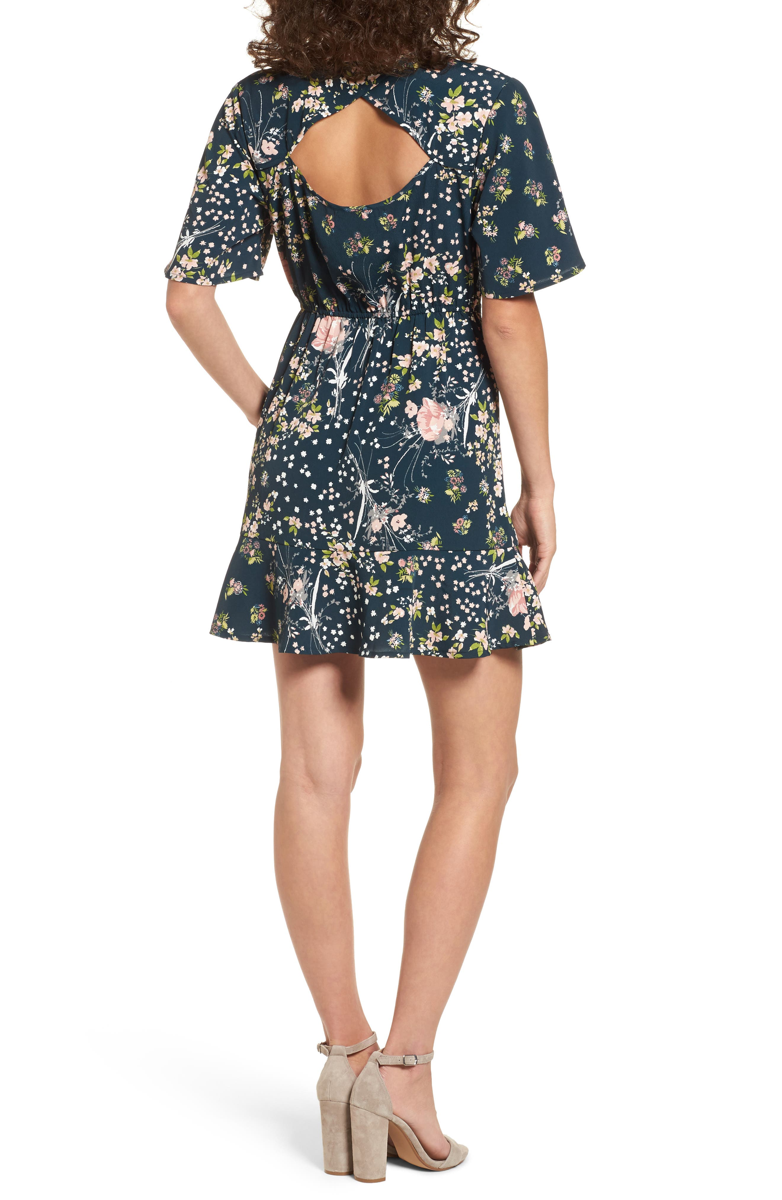 Moody Floral Dress,                             Alternate thumbnail 2, color,