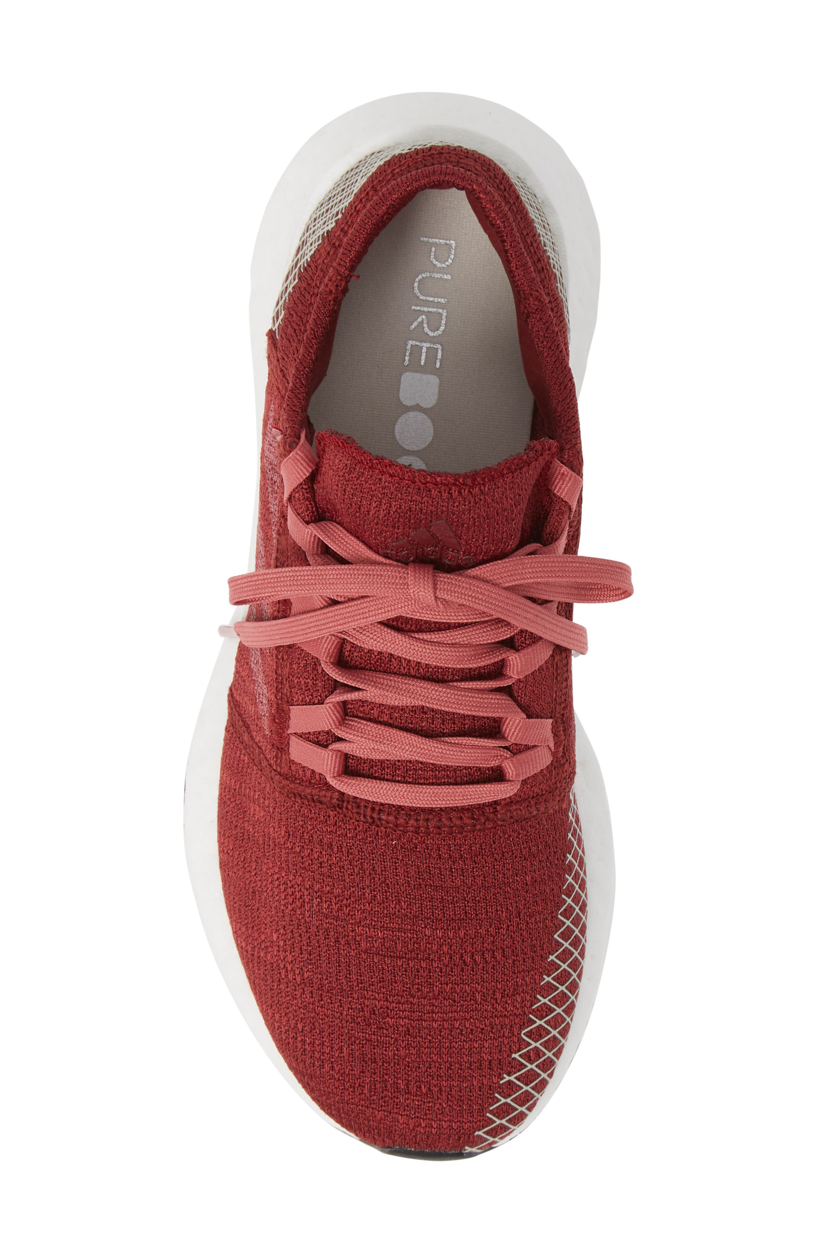 PureBoost X Element Knit Running Shoe,                             Alternate thumbnail 5, color,                             NOBLE MAROON/ MAROON/ BROWN