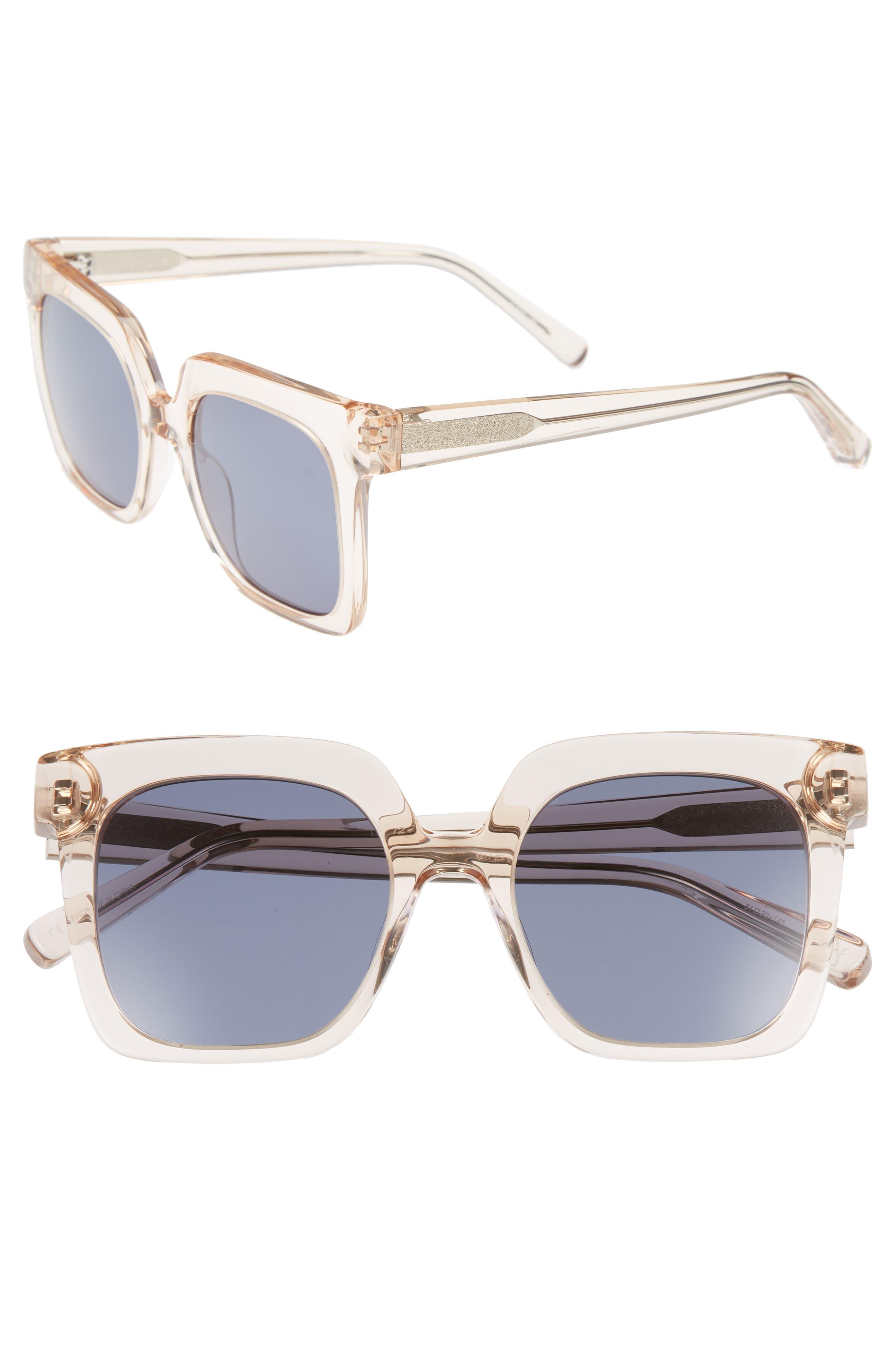 Rae 51mm Square Sunglasses,                             Main thumbnail 2, color,