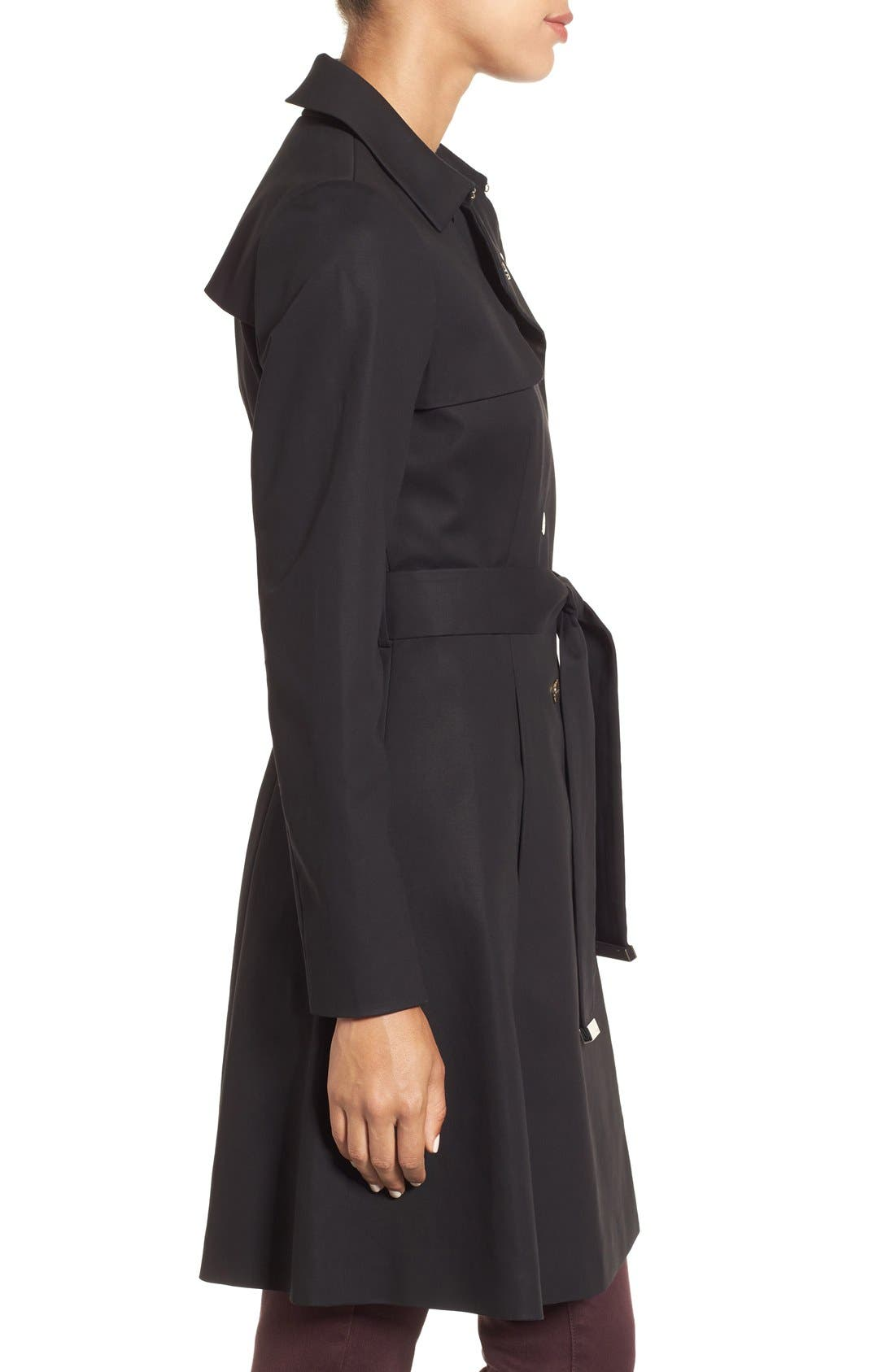 Double Breasted Trench Coat,                             Alternate thumbnail 2, color,                             001